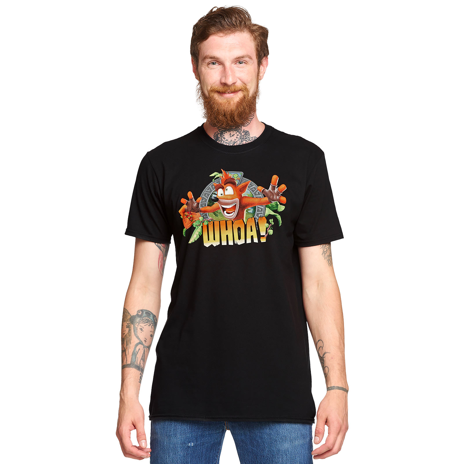 Crash Bandicoot - Whoa T-Shirt schwarz