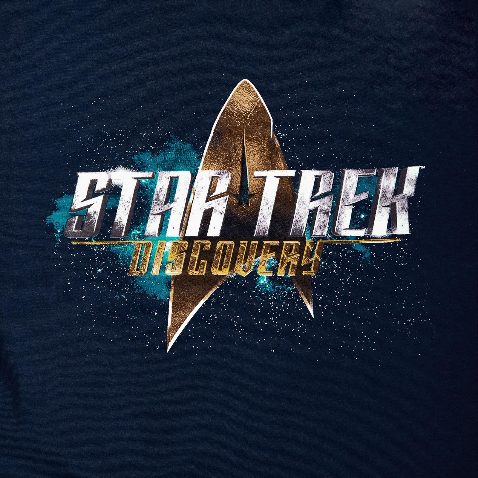 Star Trek - Discovery Logo T-Shirt blau