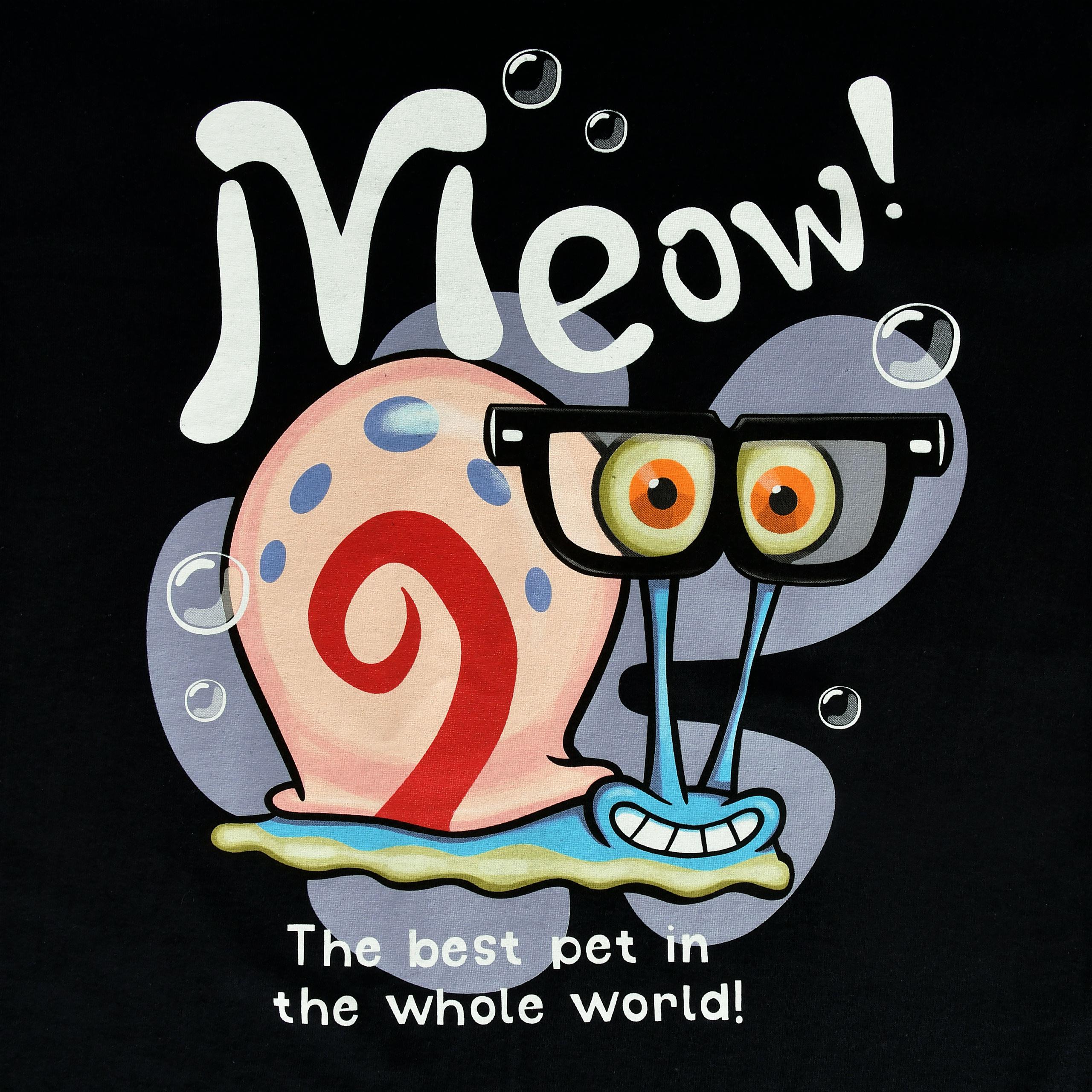 SpongeBob - Gary Meow! T-Shirt schwarz