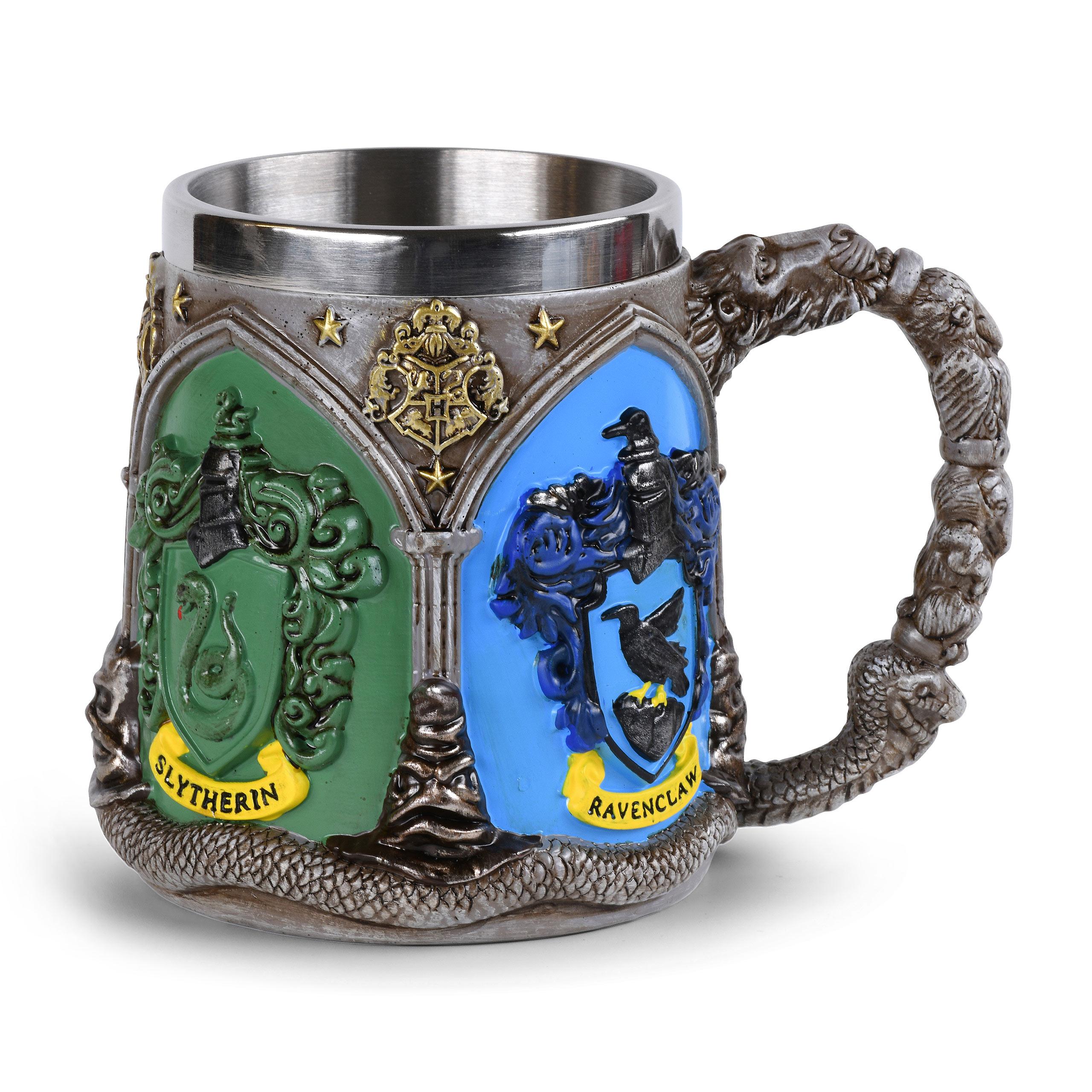 Harry Potter - Hogwarts Häuser Wappen Krug