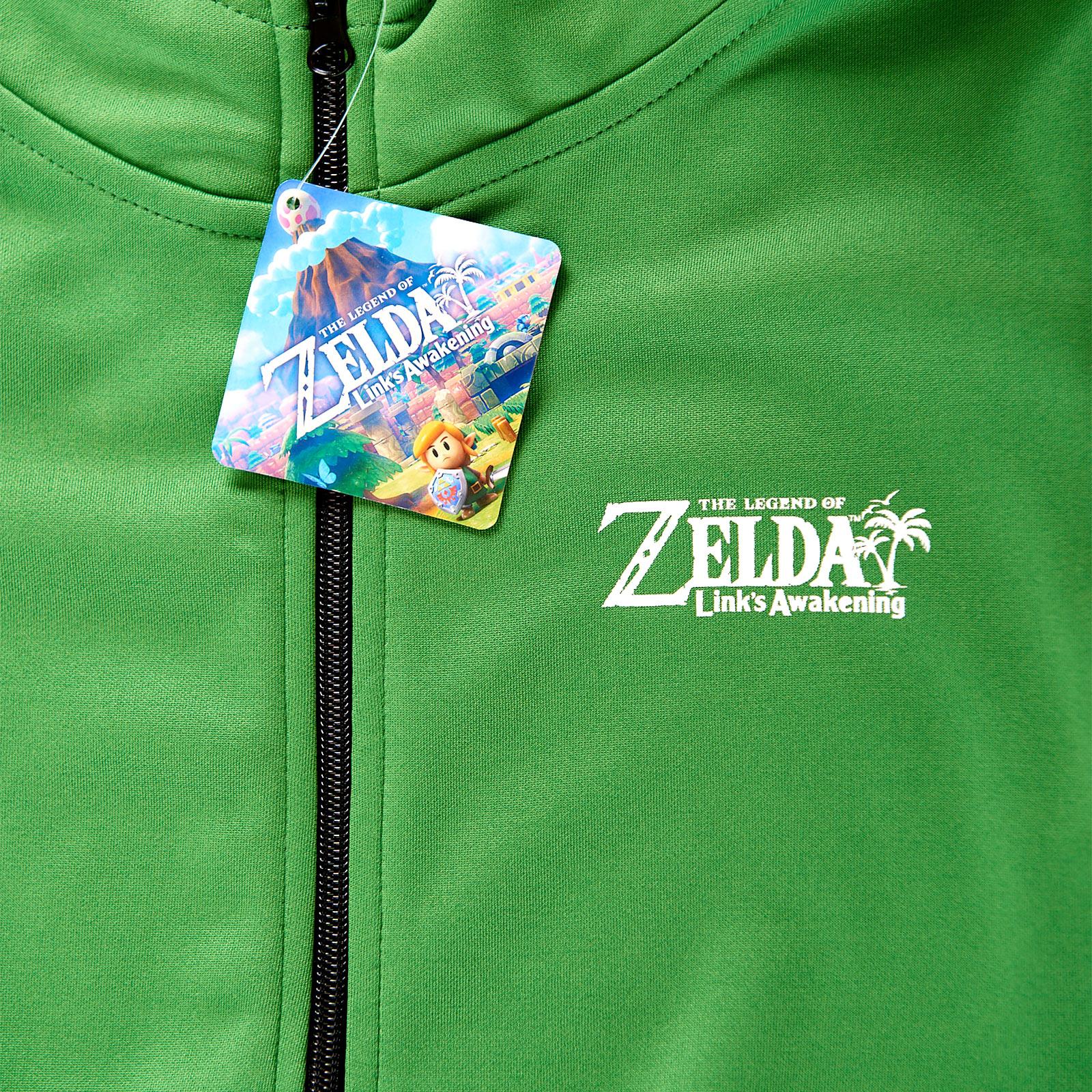 Zelda - Link's Awakening Kapuzenjacke Kinder grün