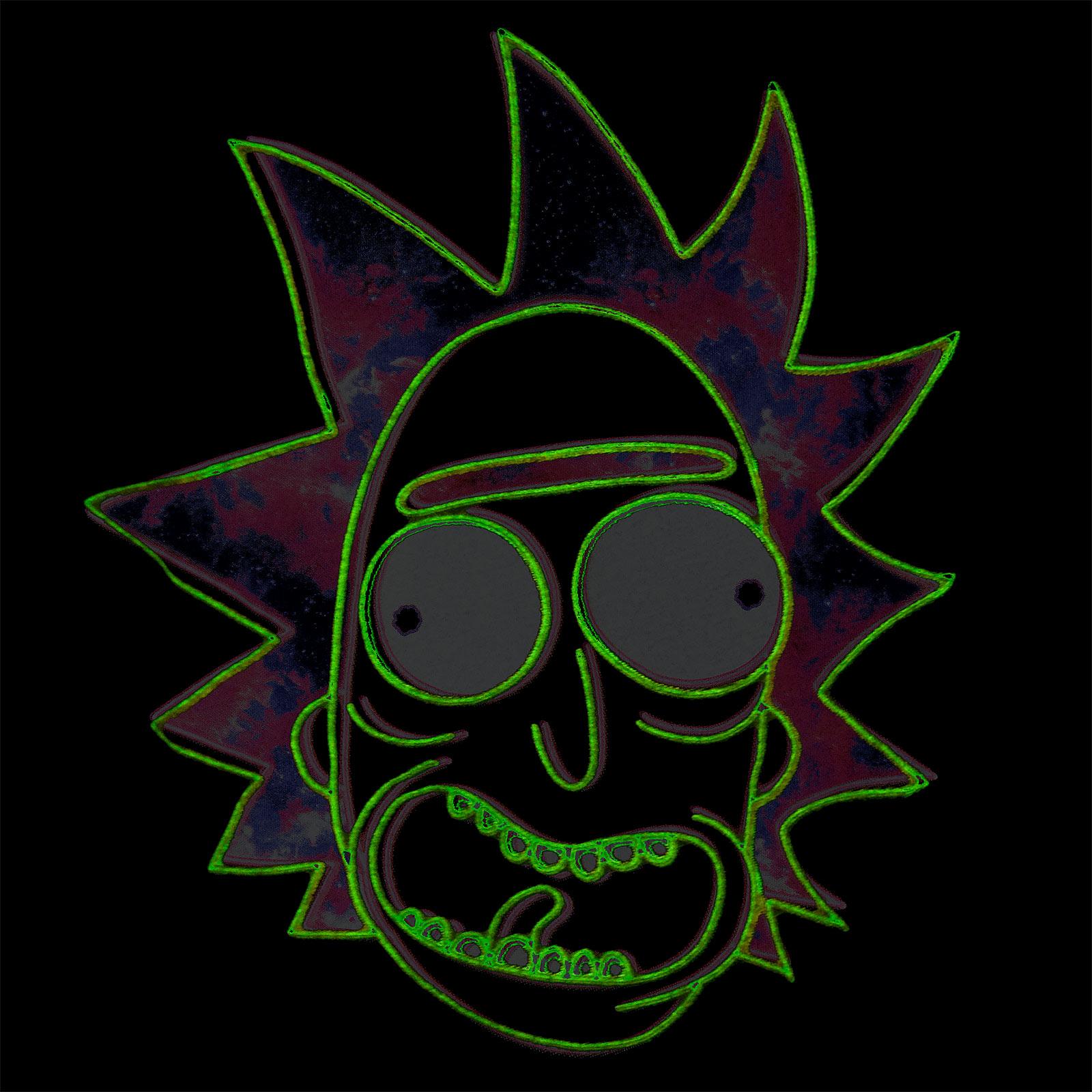 Rick and Morty - Neon Rick Glow in the Dark T-Shirt schwarz