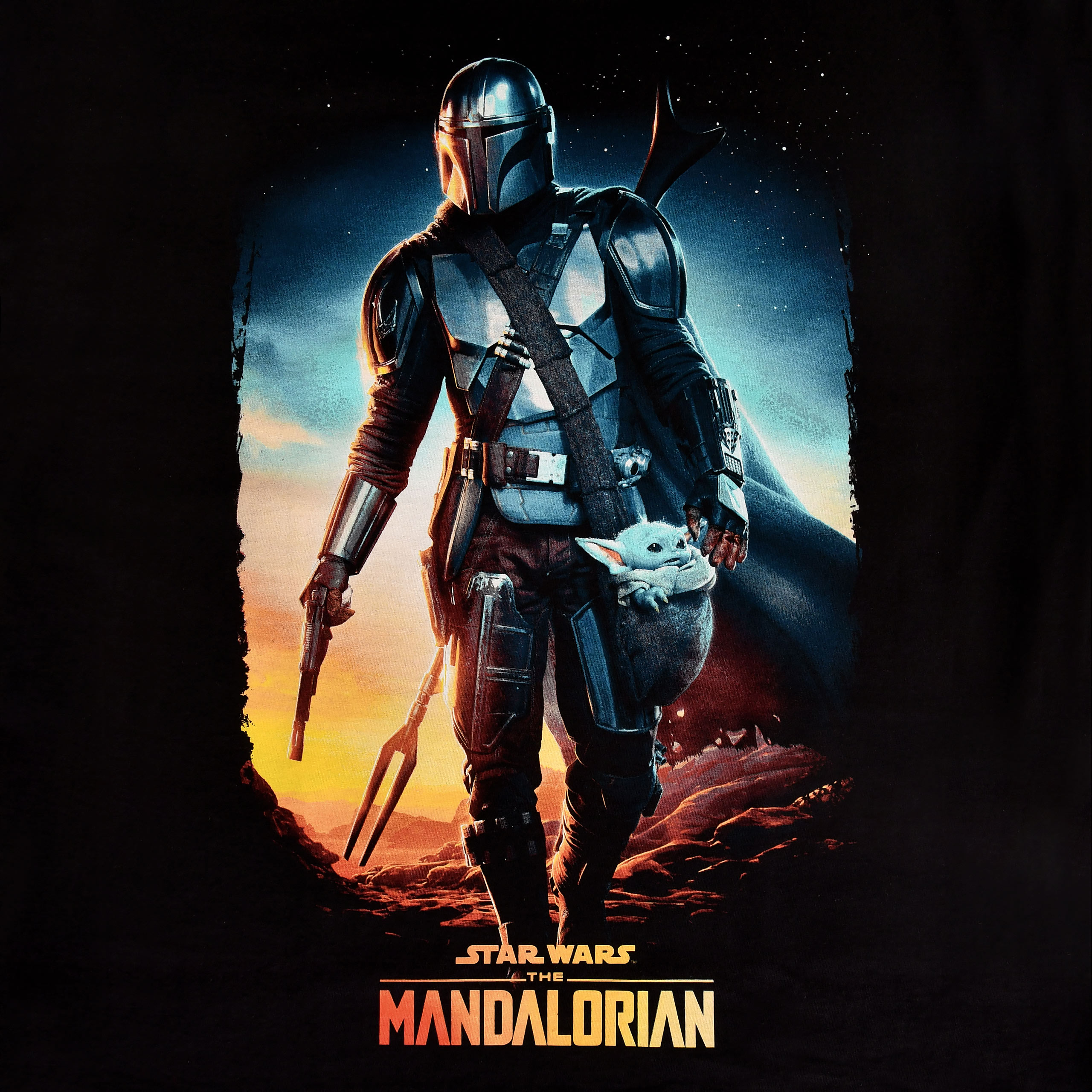 Through The Galaxy T-Shirt schwarz - Star Wars Mandalorian