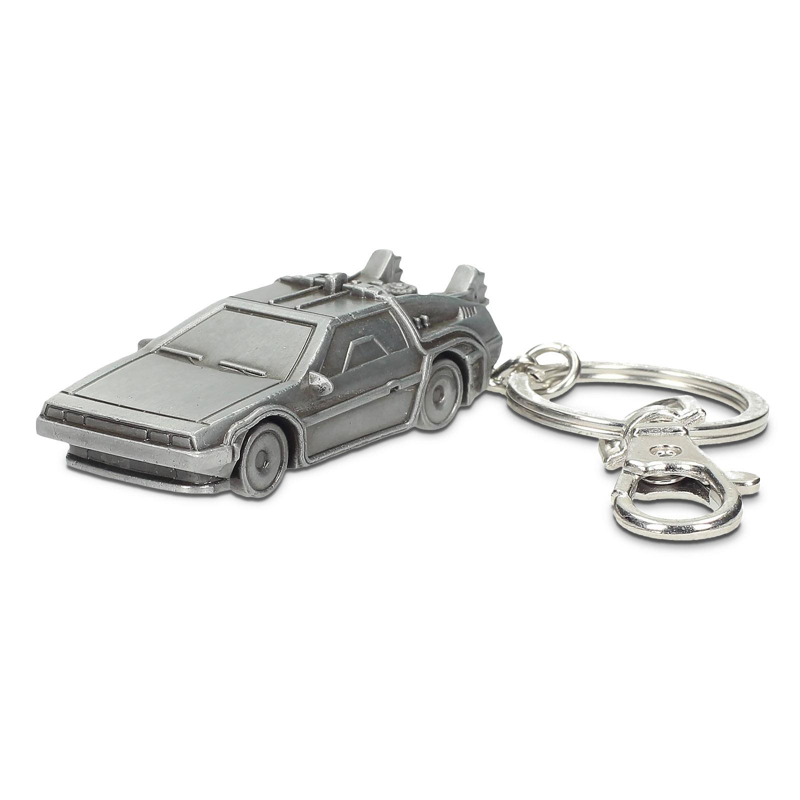 Zurück in die Zukunft - DeLorean 3D Schlüsselanhänger