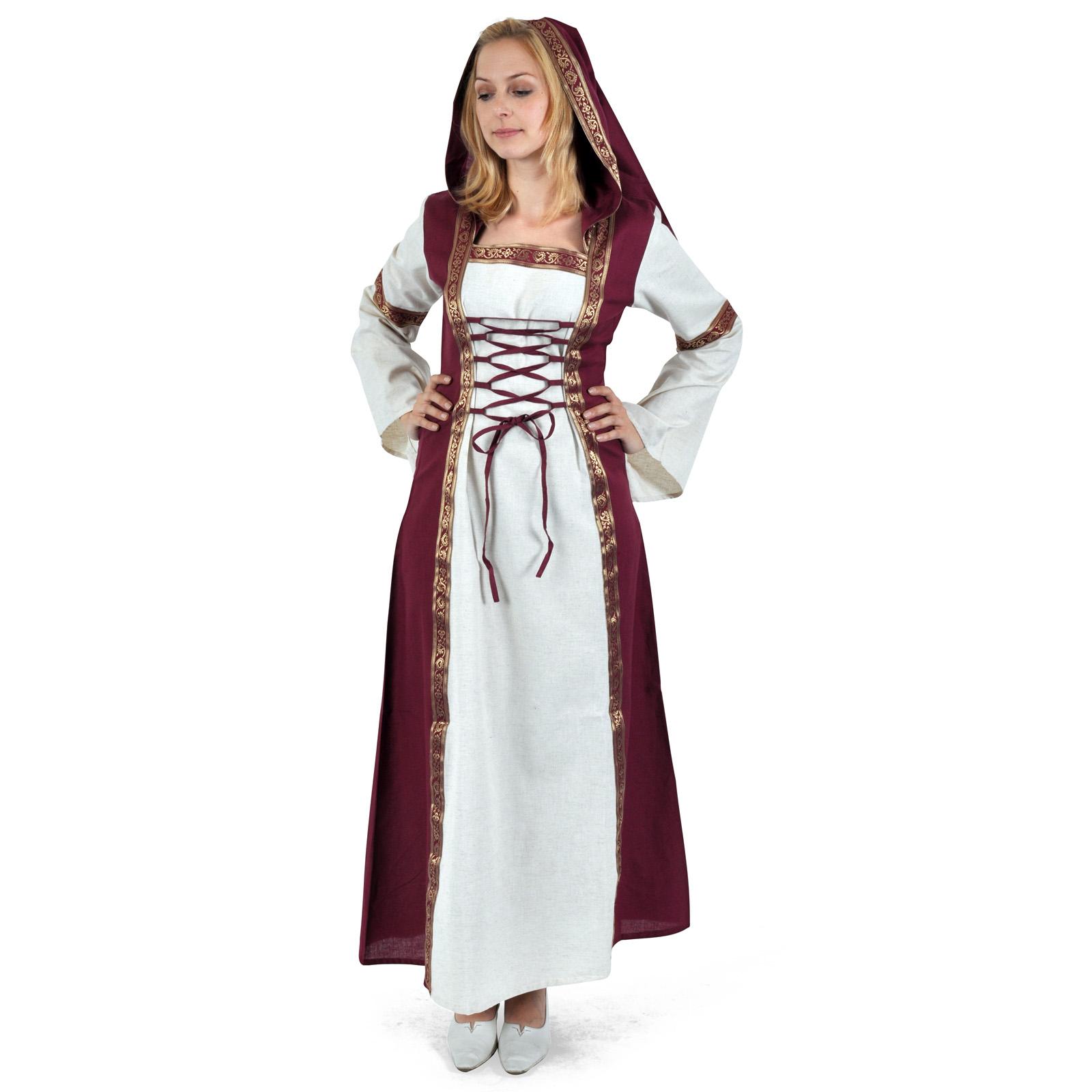 Chiara Mittelalter Kleid natur-rot