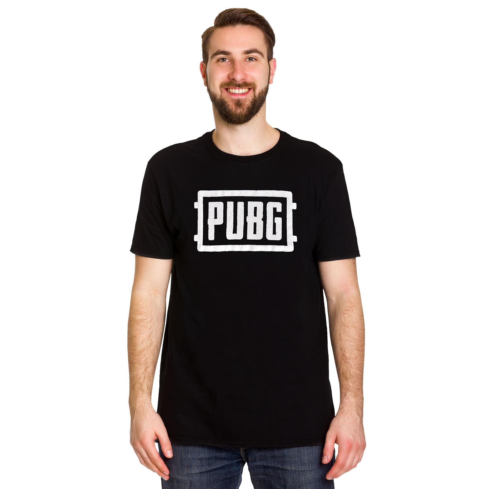 PUBG - White Icon Logo T-Shirt schwarz