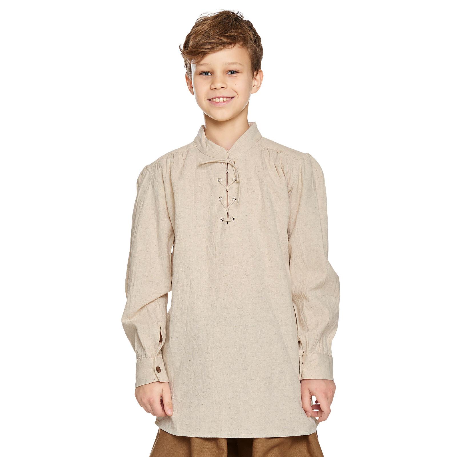 Mittelalter Hemd für Kinder natur