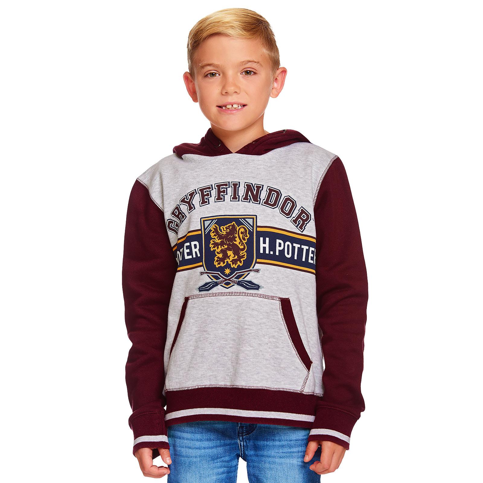 Harry Potter - Gryffindor Kinder Hoodie grau-rot