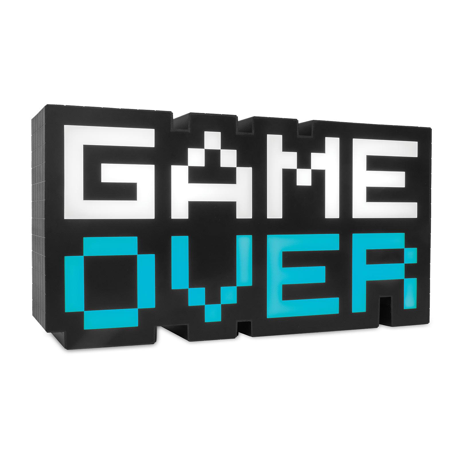 Game Over 8-Bit Retro Tischlampe für Gaming Fans