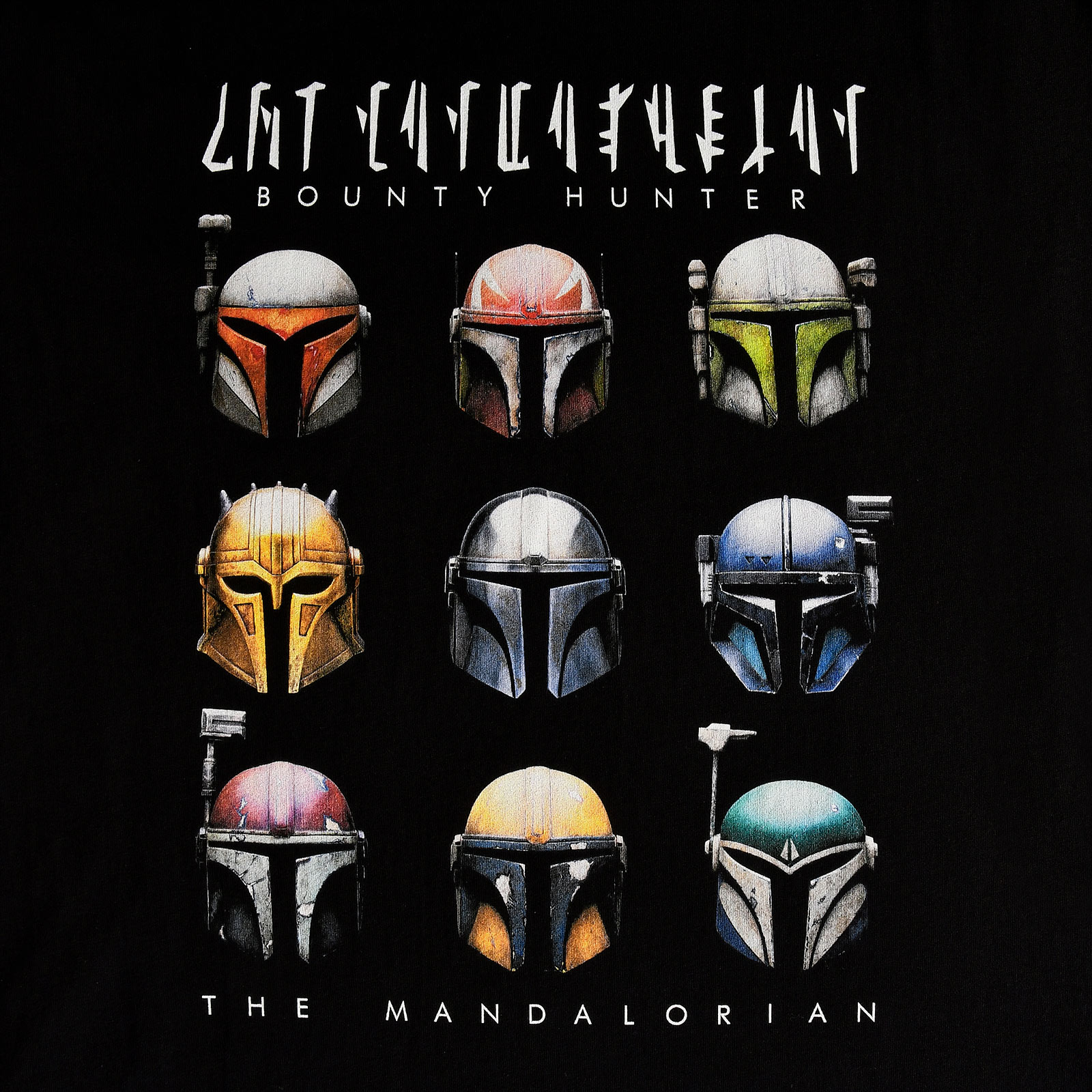 Star Wars - Mandalorian Helmets T-Shirt schwarz