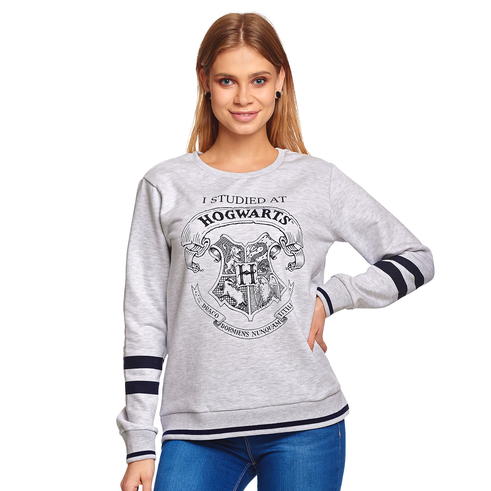 Harry Potter - I Studied at Hogwarts Damen Sweater grau