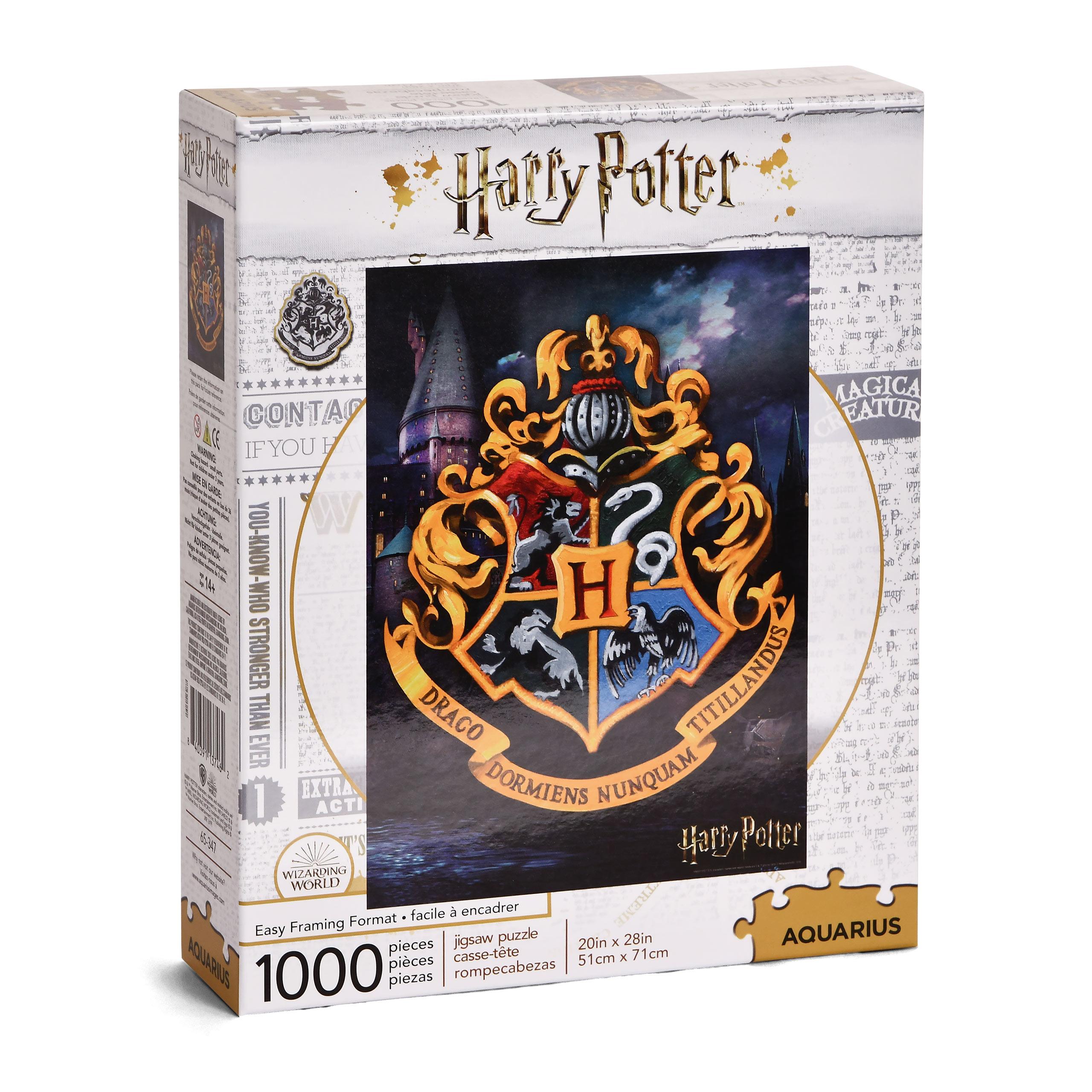 Harry Potter - Hogwarts Wappen Puzzle 1000 Teile