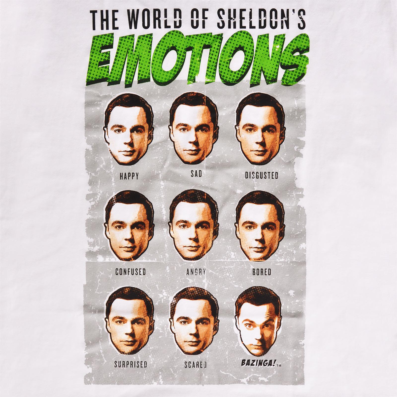 Big Bang Theory - Sheldon Emotions T-Shirt weiß