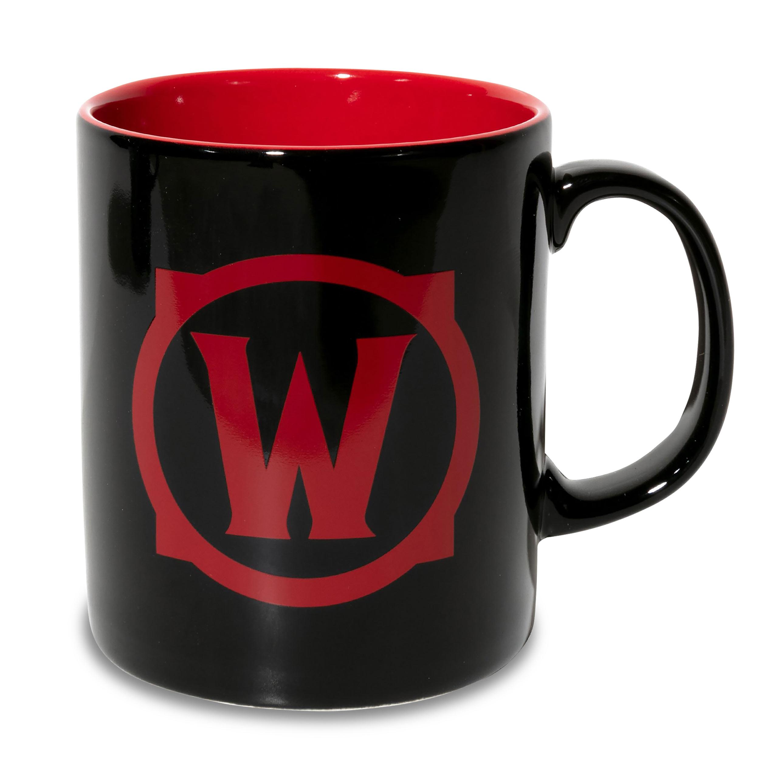 World of Warcraft - For the Horde Tasse schwarz-rot