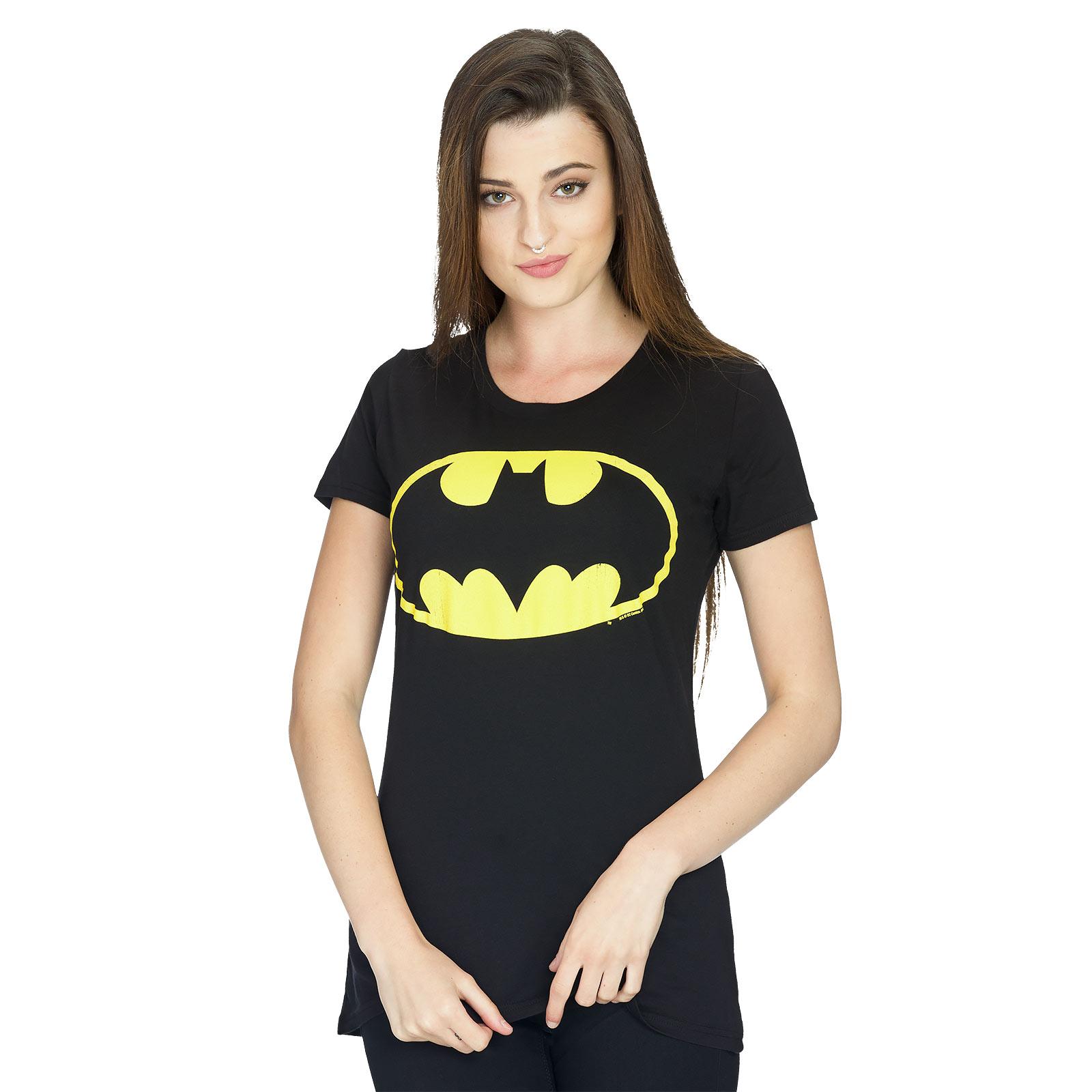 Batman - Logo Girlie Shirt schwarz