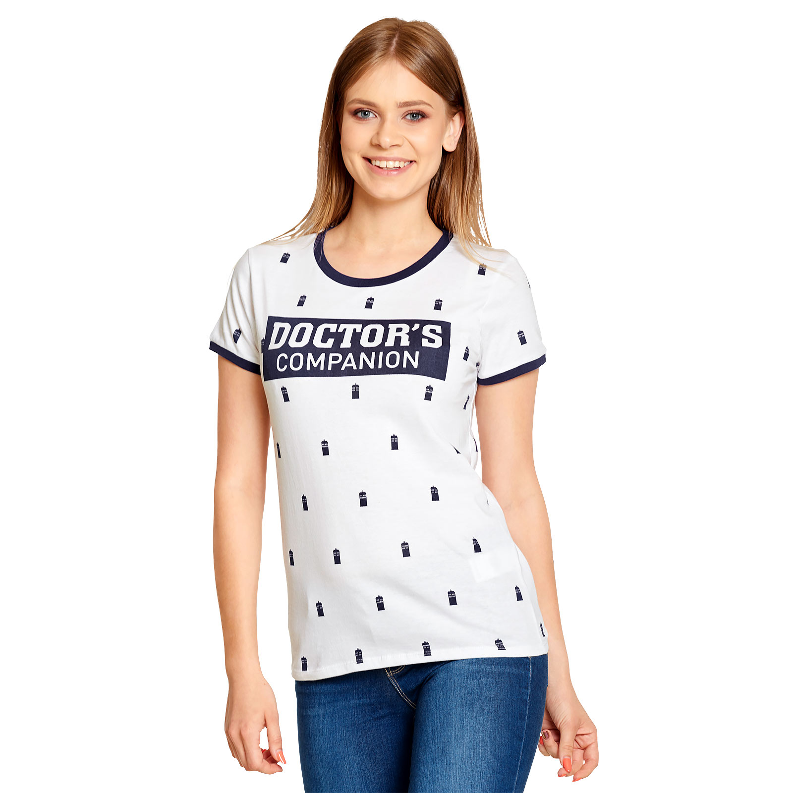 Doctor Who - Doctor's Companion T-Shirt Damen weiß