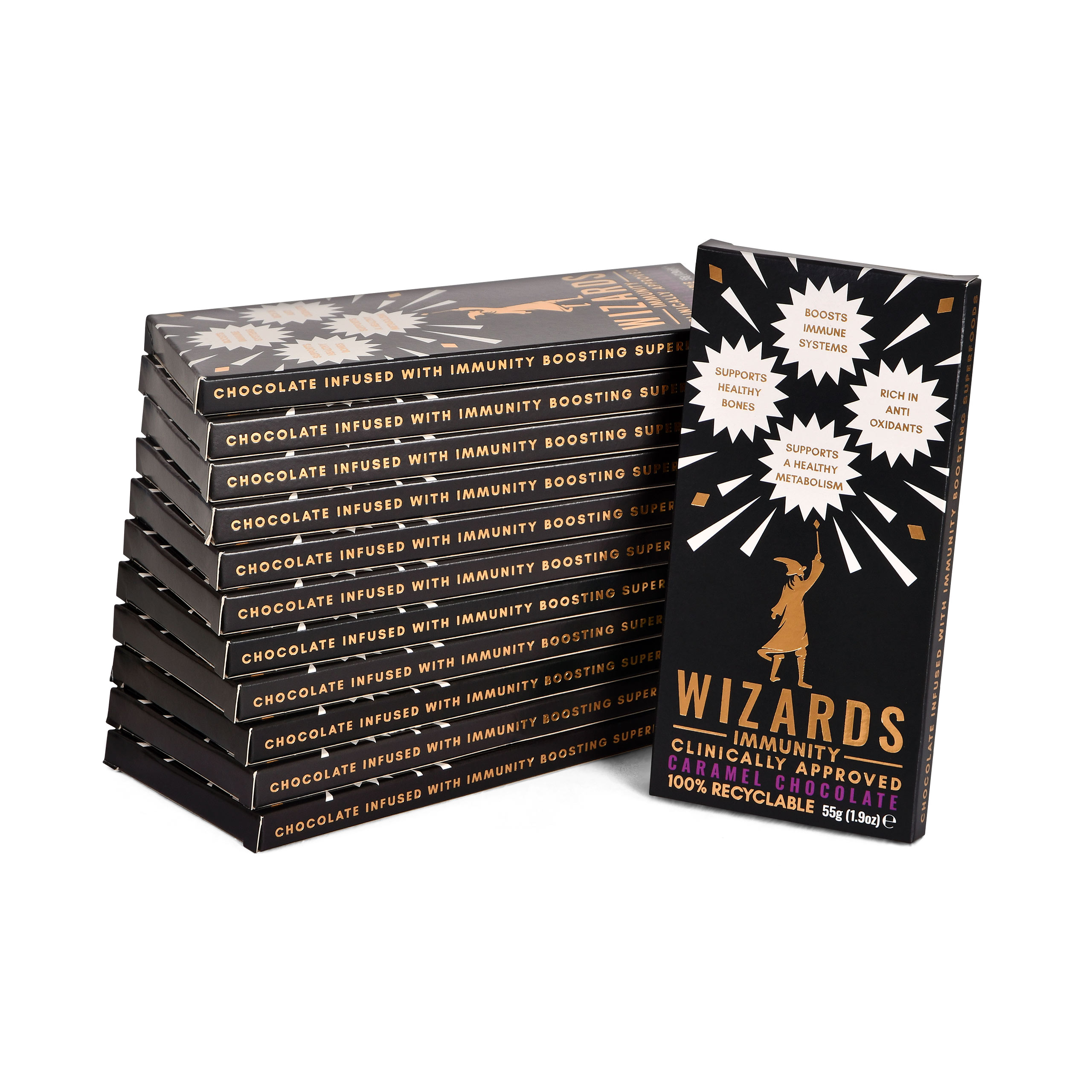 Wizards Magic - Immunity Karamell Schokolade 12 Tafeln
