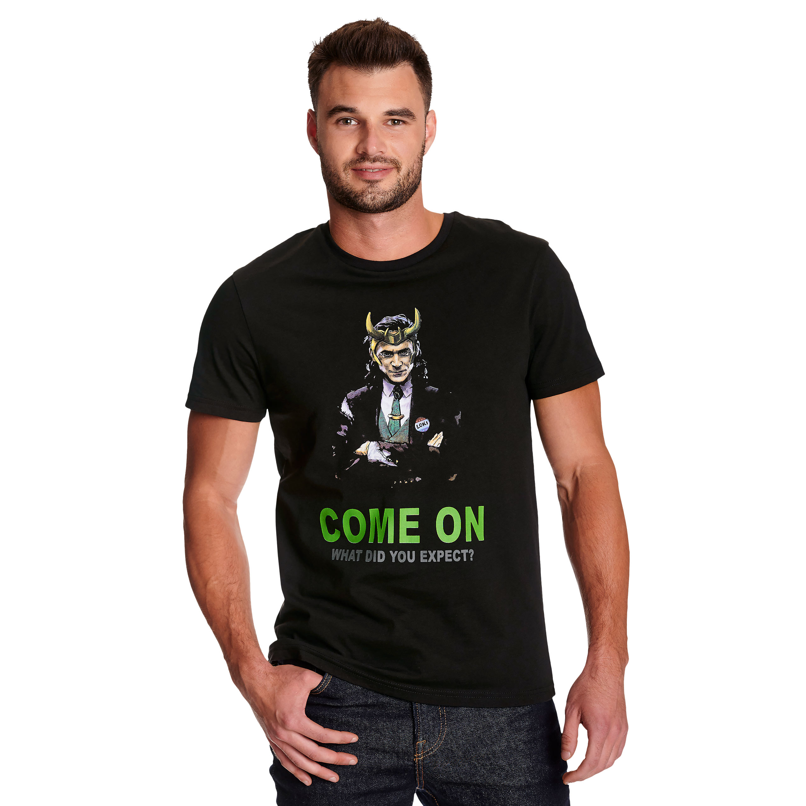 Loki - Come on T-Shirt schwarz