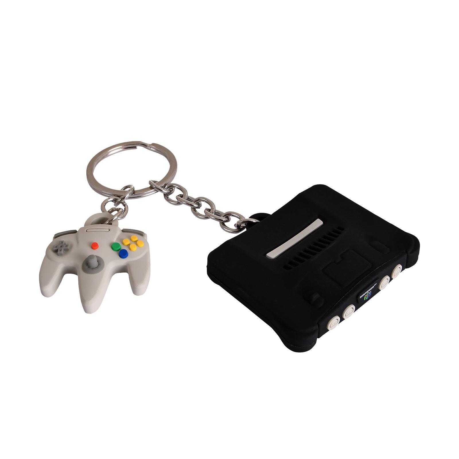 Nintendo - N64 Konsole und Controller Schlüsselanhänger