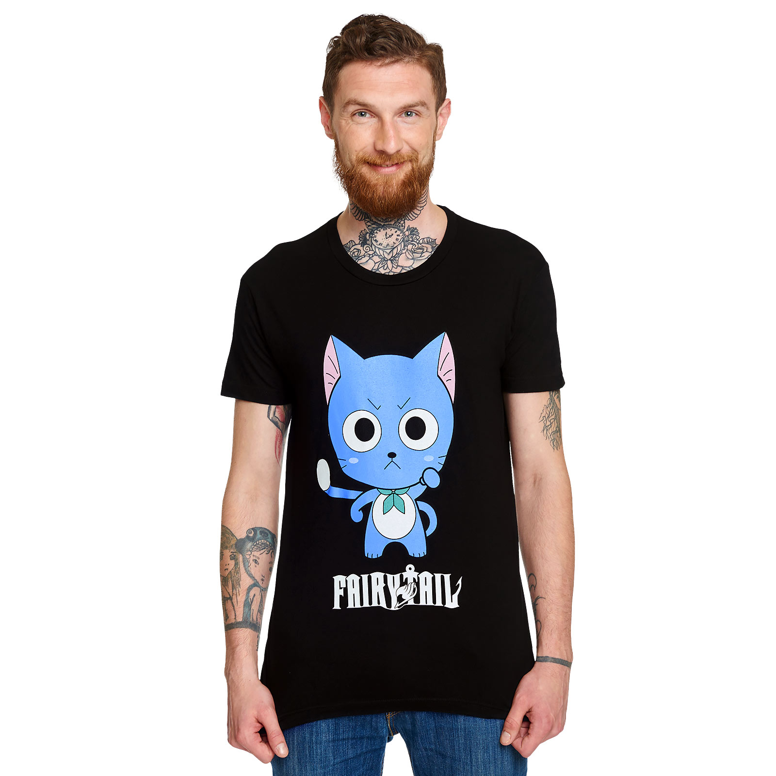 Fairy Tail - Happy T-Shirt schwarz