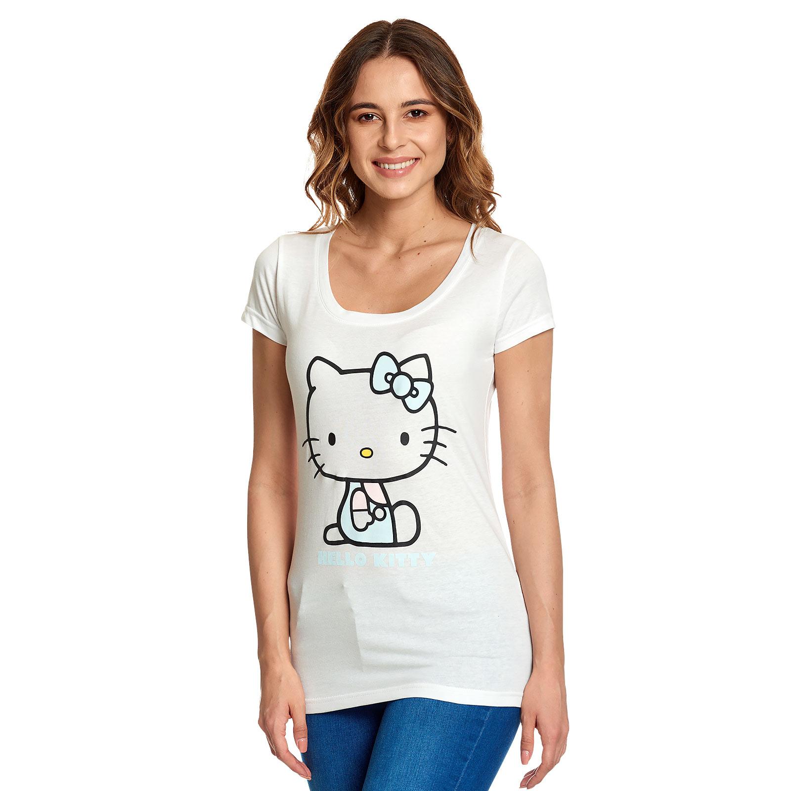 Hello Kitty - Pastel Kitty T-Shirt Damen weiß