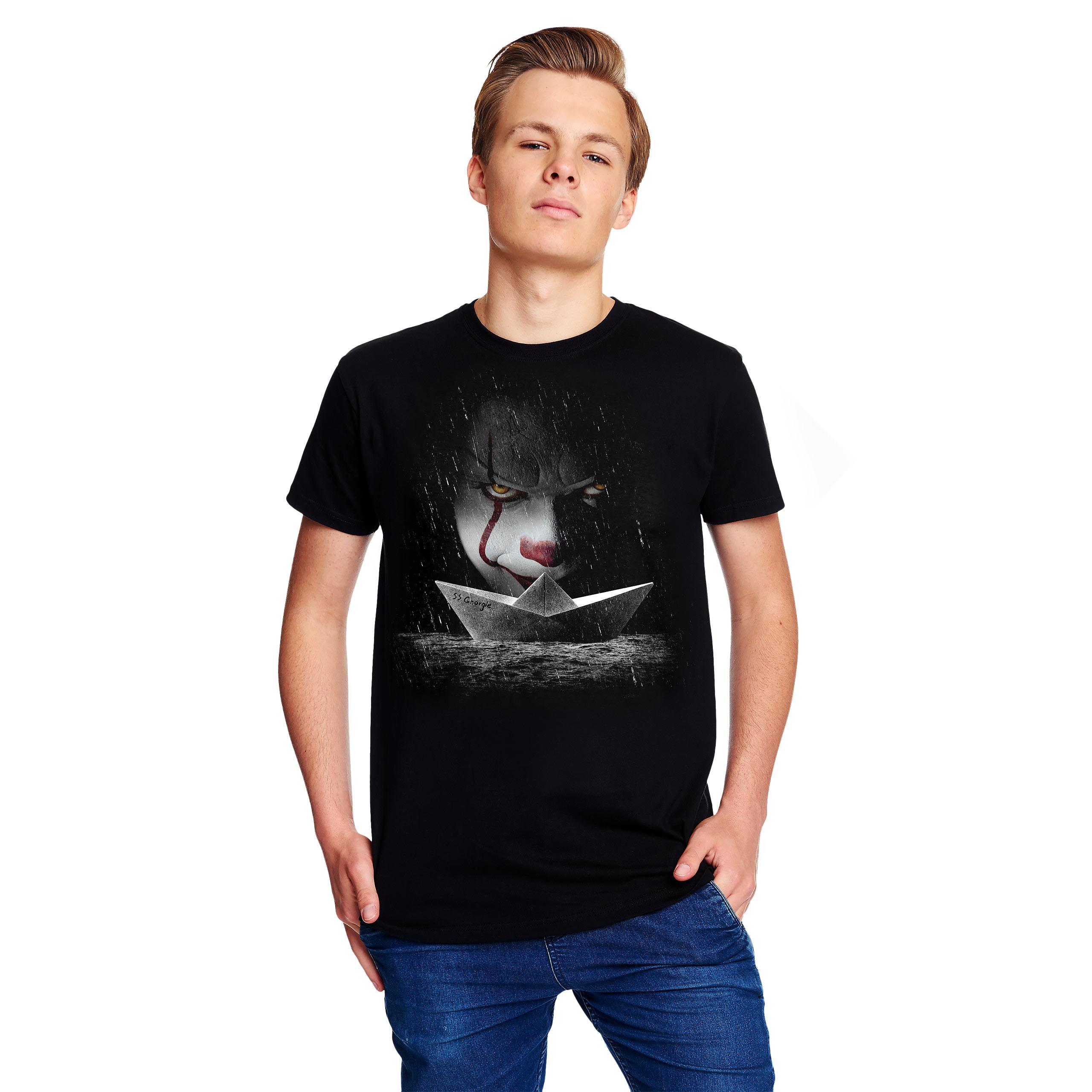 Stephen Kings ES - Pennywise Papierboot T-Shirt schwarz