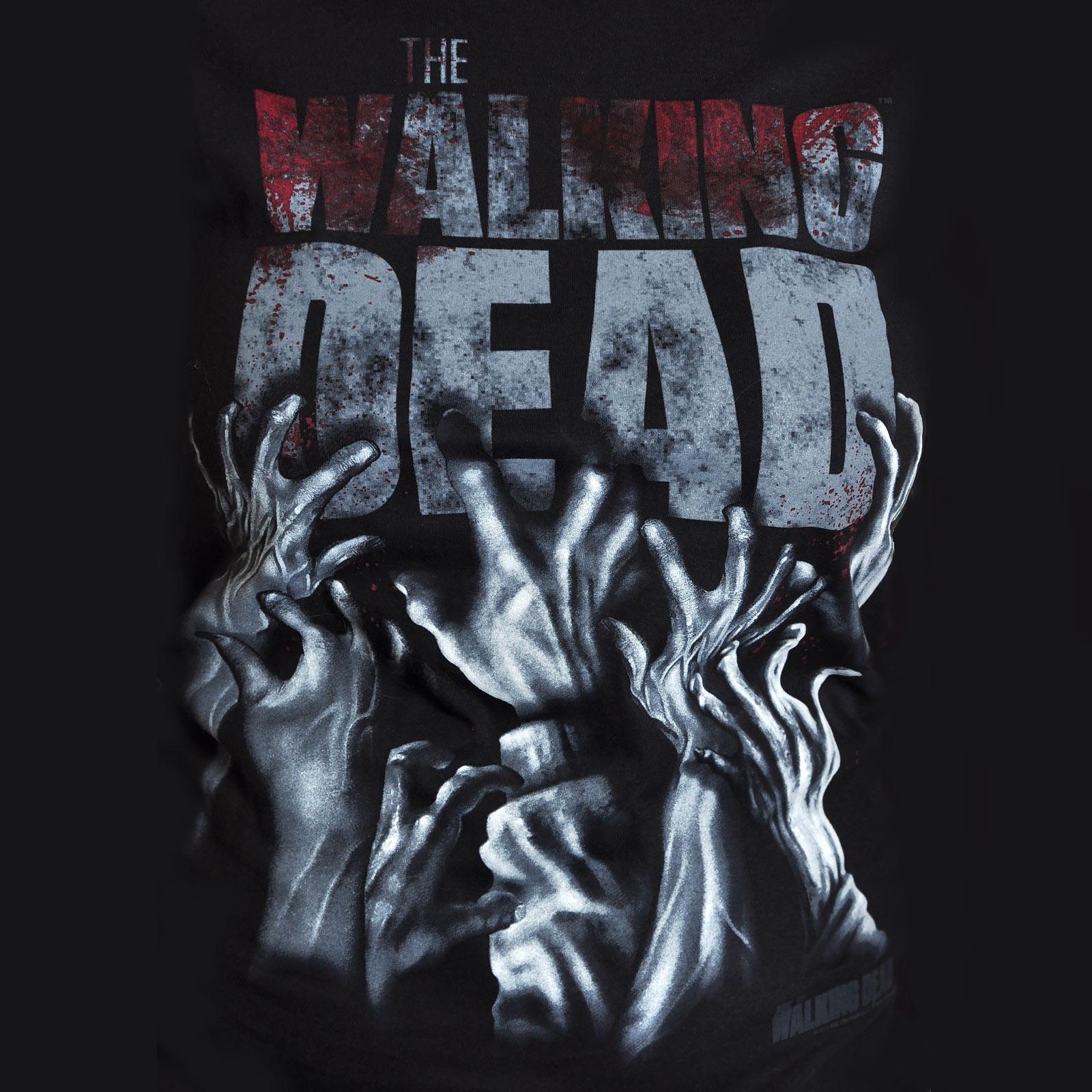 Walking Dead - Hands Blood Splatter Girlie Shirt schwarz