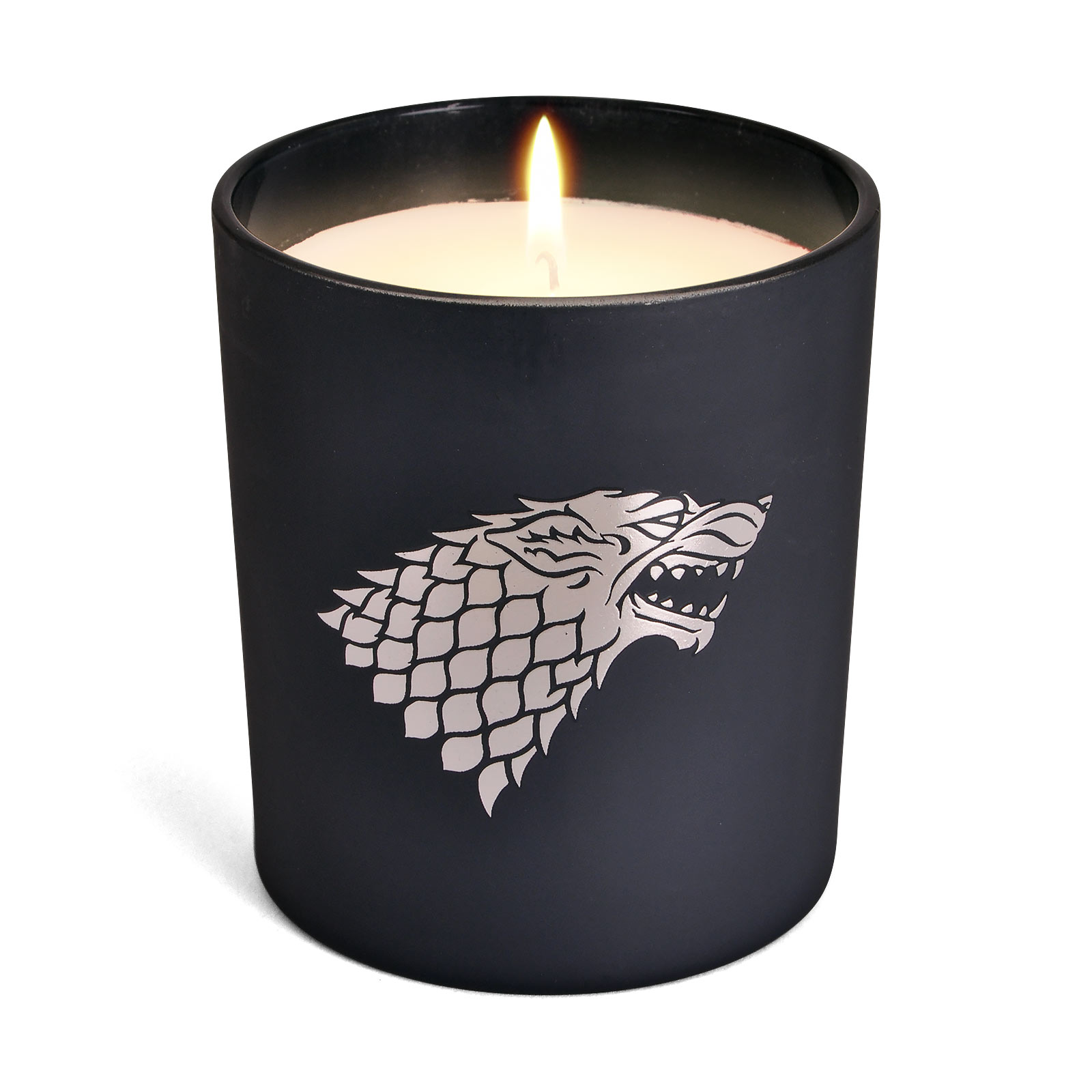 Game of Thrones - Stark Wappen Kerze im Glas