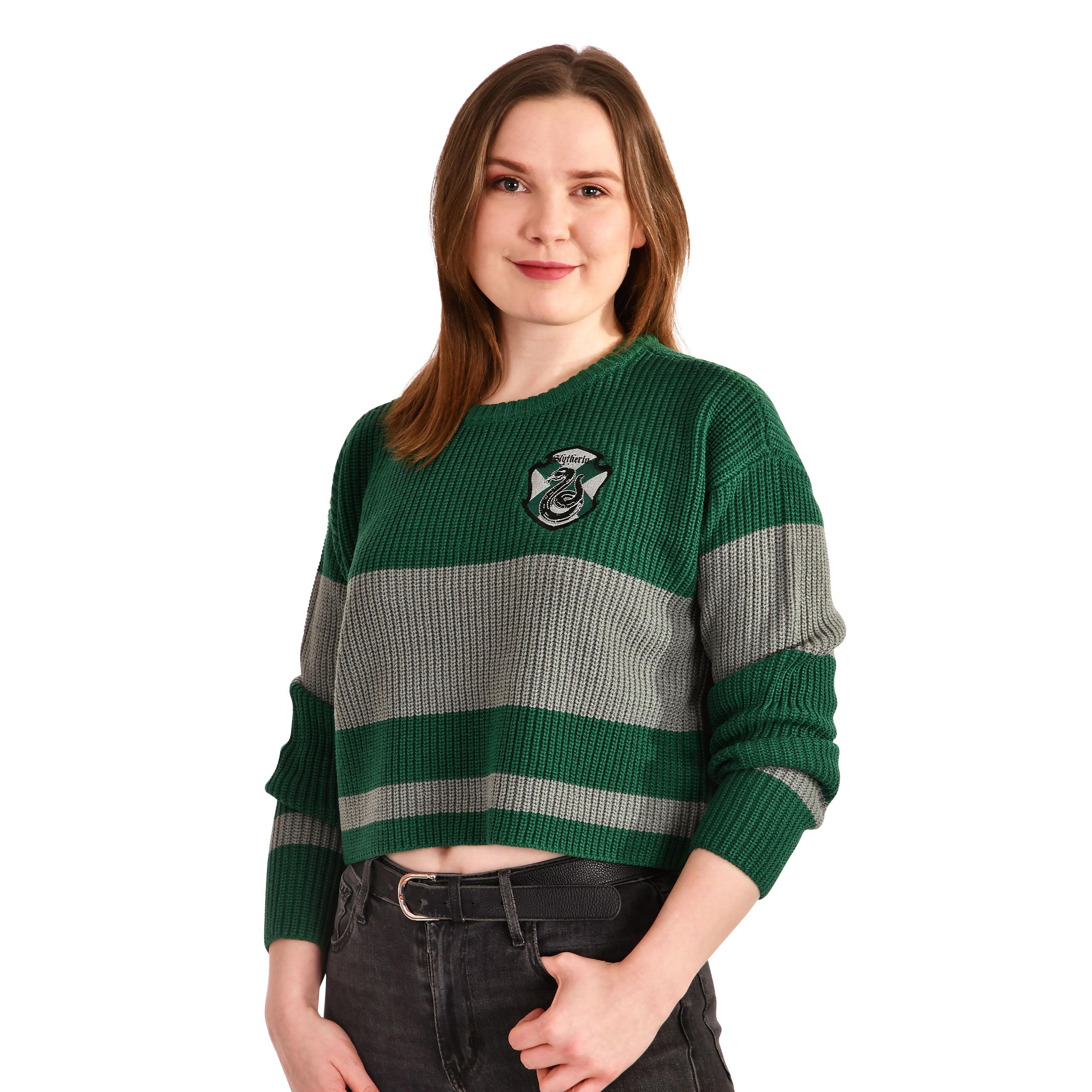 Harry Potter - Slytherin Crop Sweater Damen