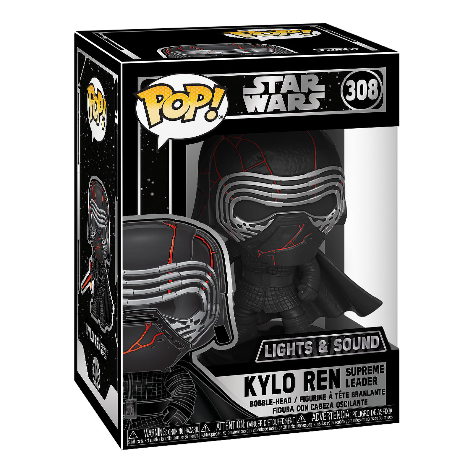 Star Wars - Kylo Ren Funko Pop Wackelkopf-Figur mit Licht und Sound