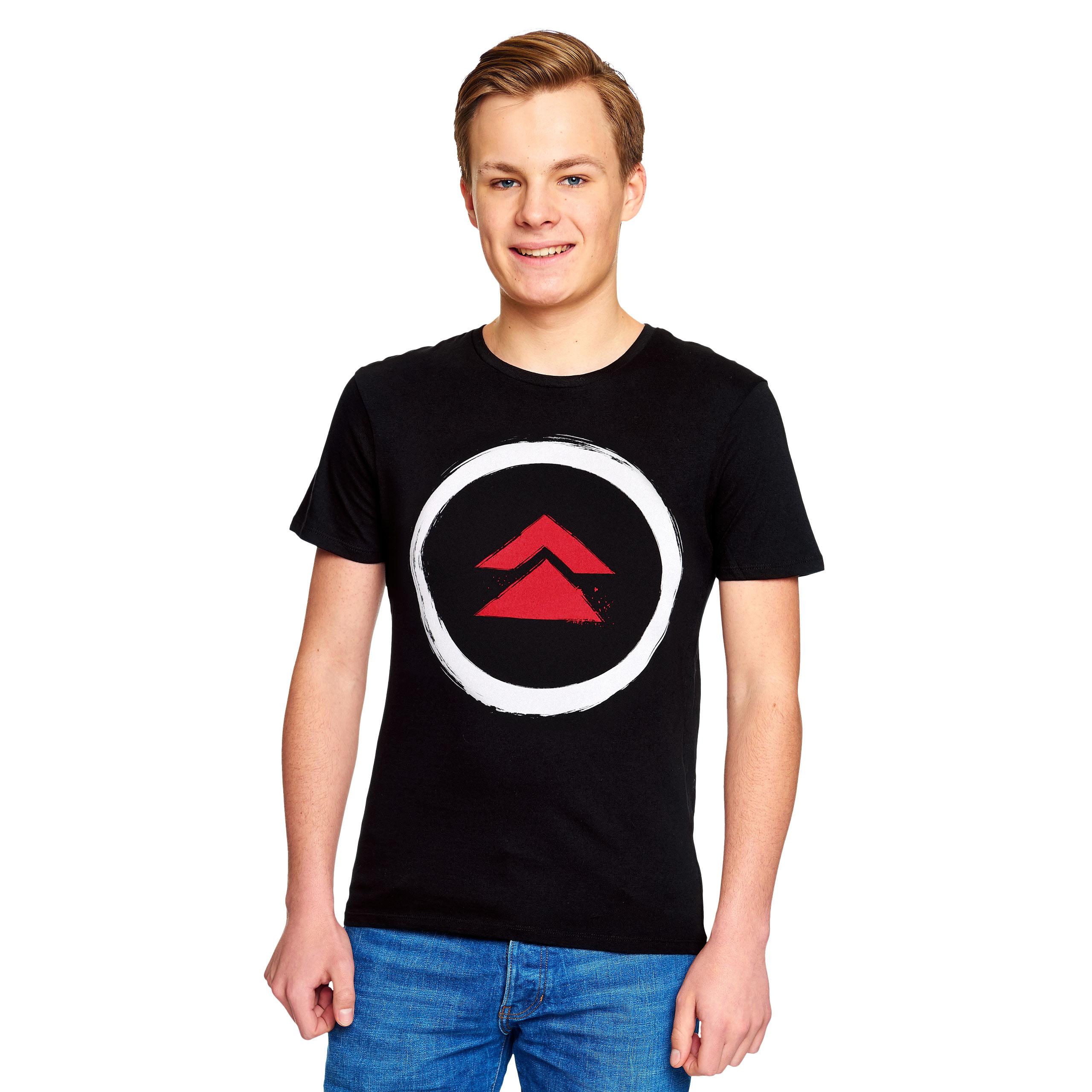 Logo T-Shirt für Ghost of Tsushima Fans schwarz