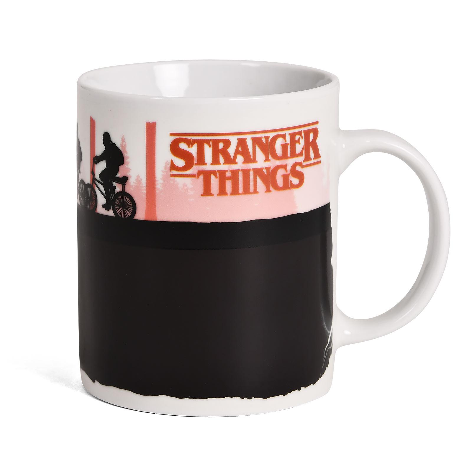 Stranger Things - Upside Down Thermoeffekt Tasse