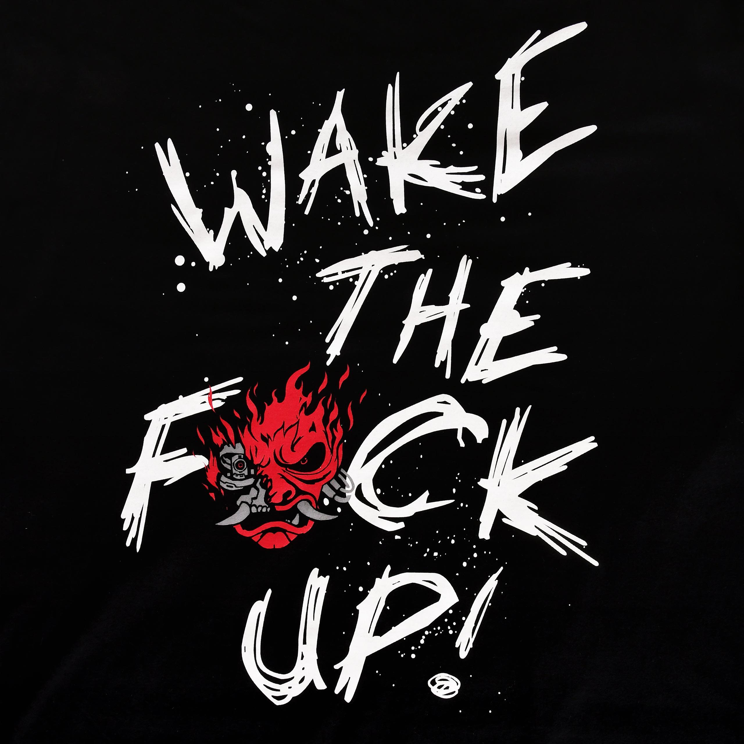 Cyberpunk 2077 - Wake Up Sketchy T-Shirt schwarz