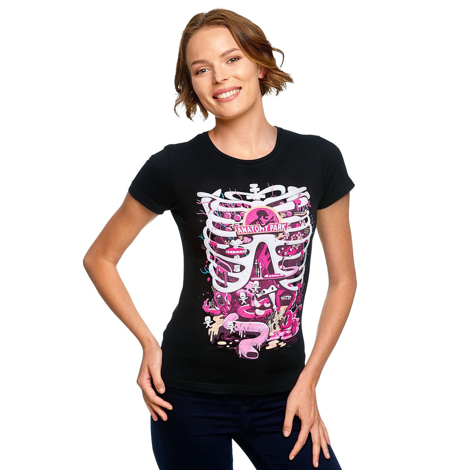 Rick and Morty - Anatomy Park T-Shirt Damen schwarz