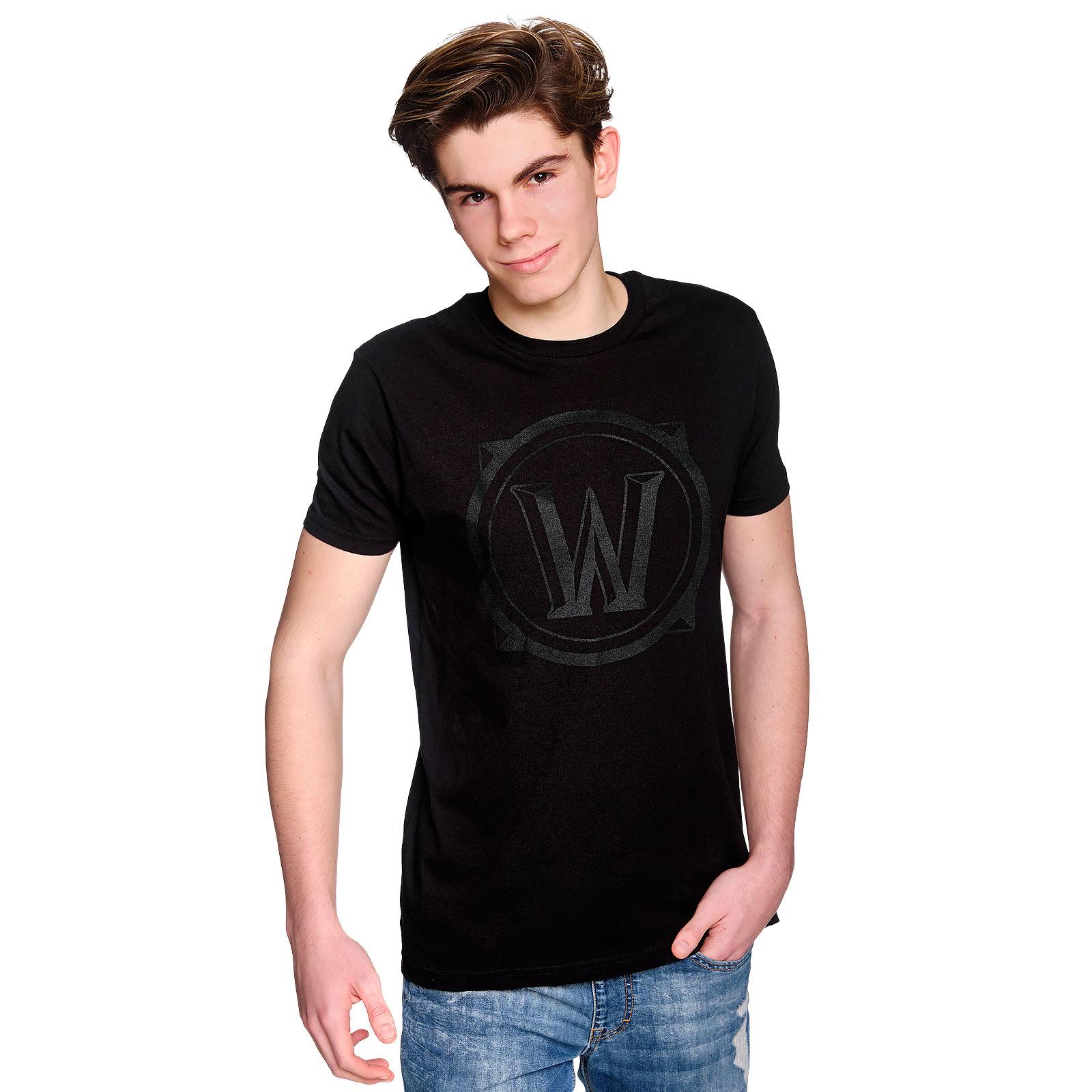 World of Warcraft - Black Icon T-Shirt schwarz