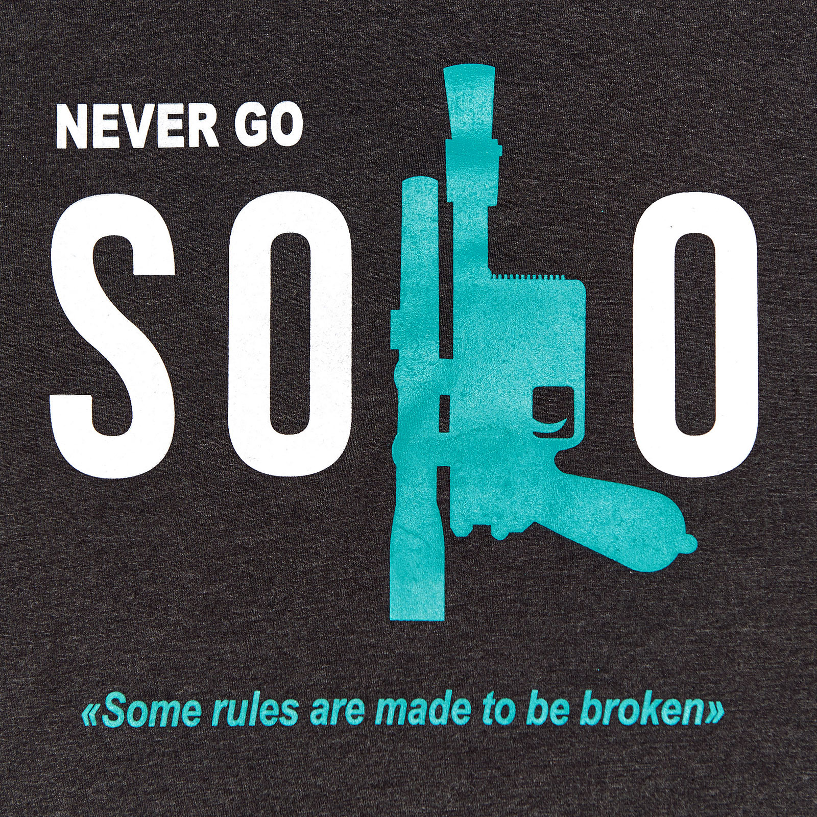 Star Wars - Never Go Solo T-Shirt grau