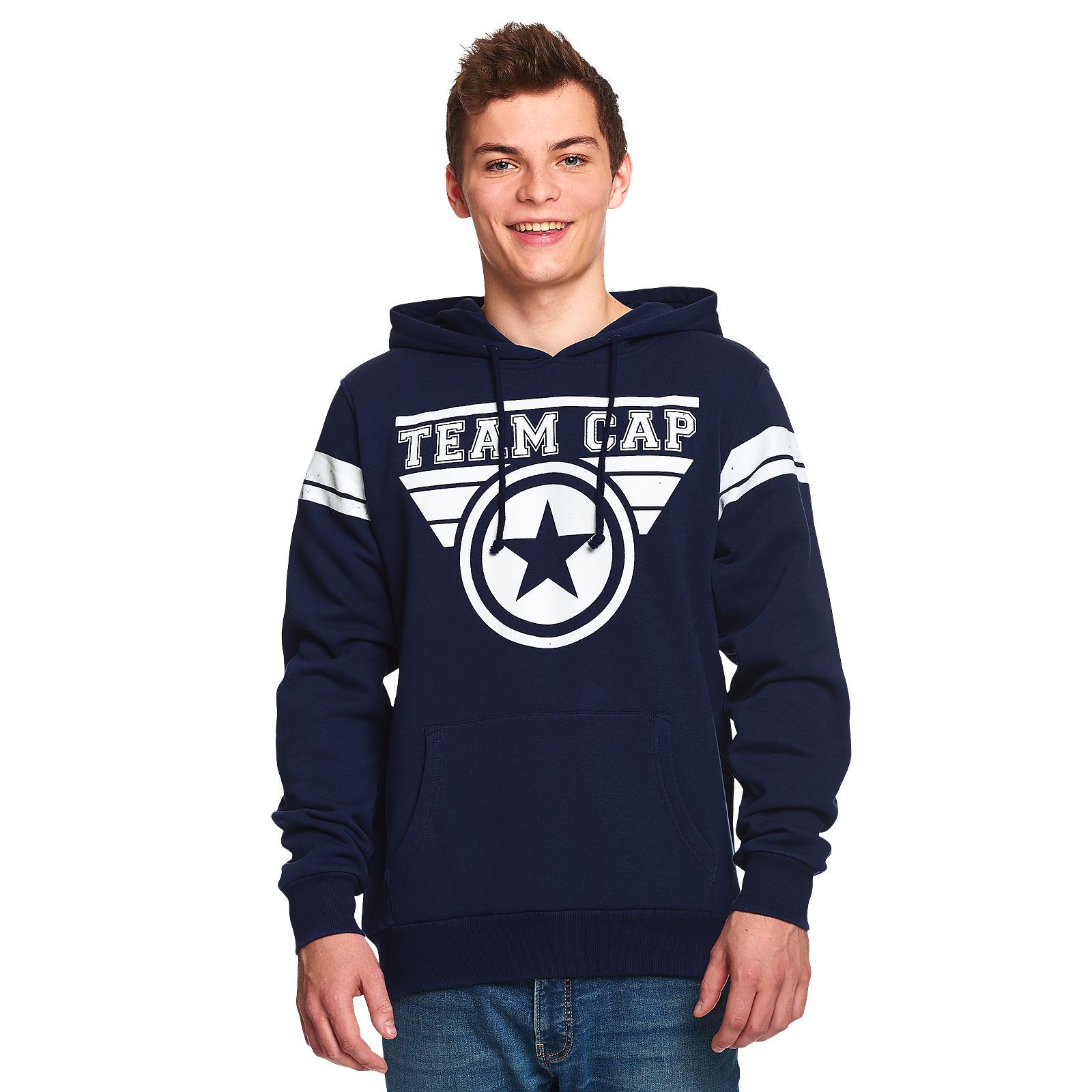 Captain America - Team Cap Hoodie blau