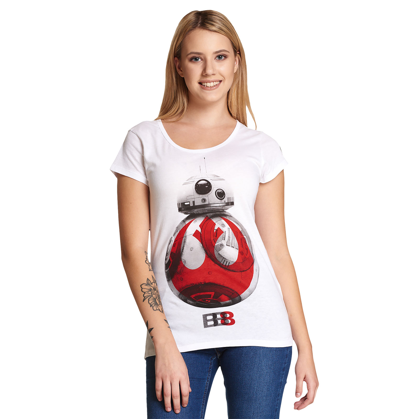 Star Wars - Rebel BB-8 T-Shirt Damen weiß