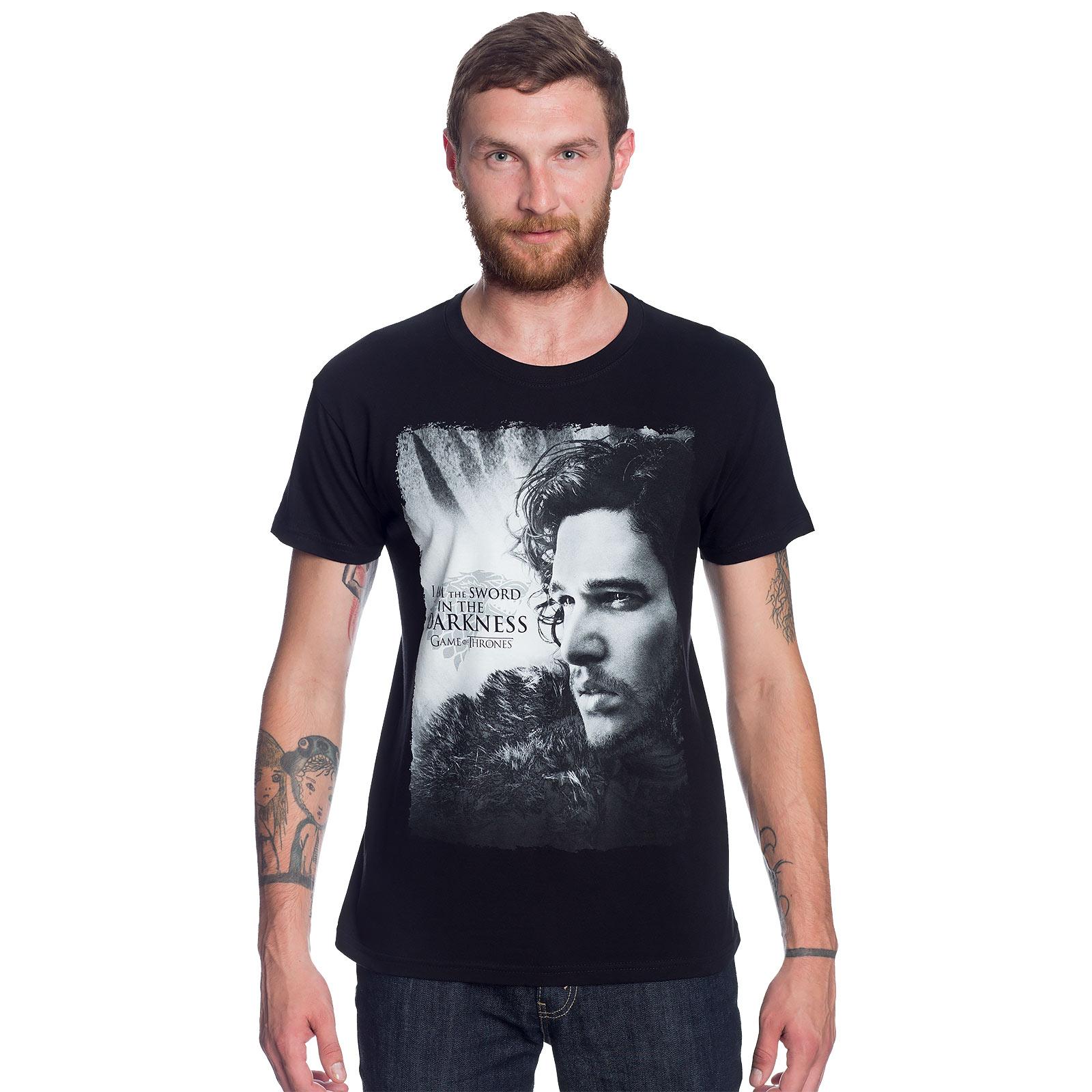 Game of Thrones - Jon Snow Sword in Darkness T-Shirt schwarz