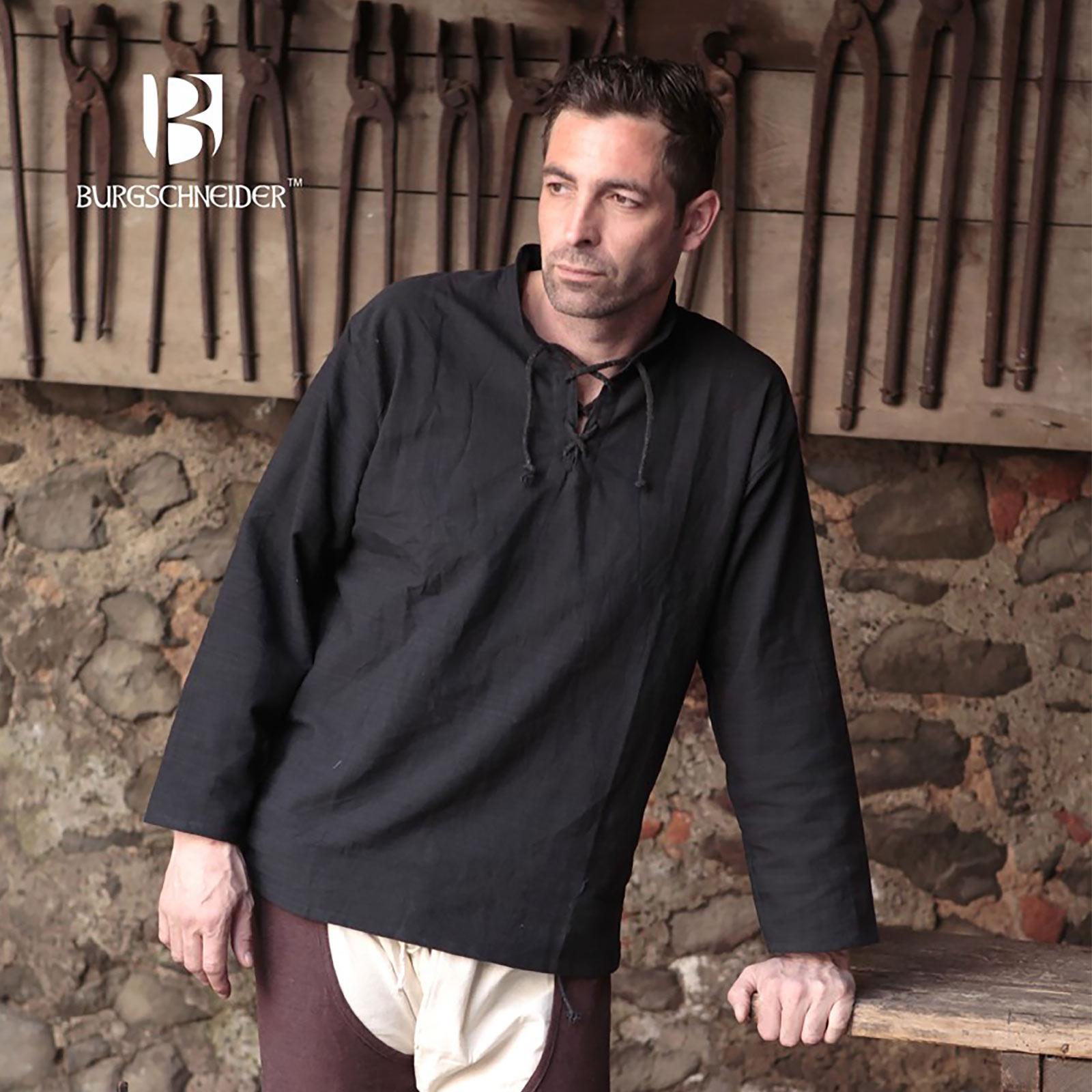 Mittelalter Hemd Tristan schwarz