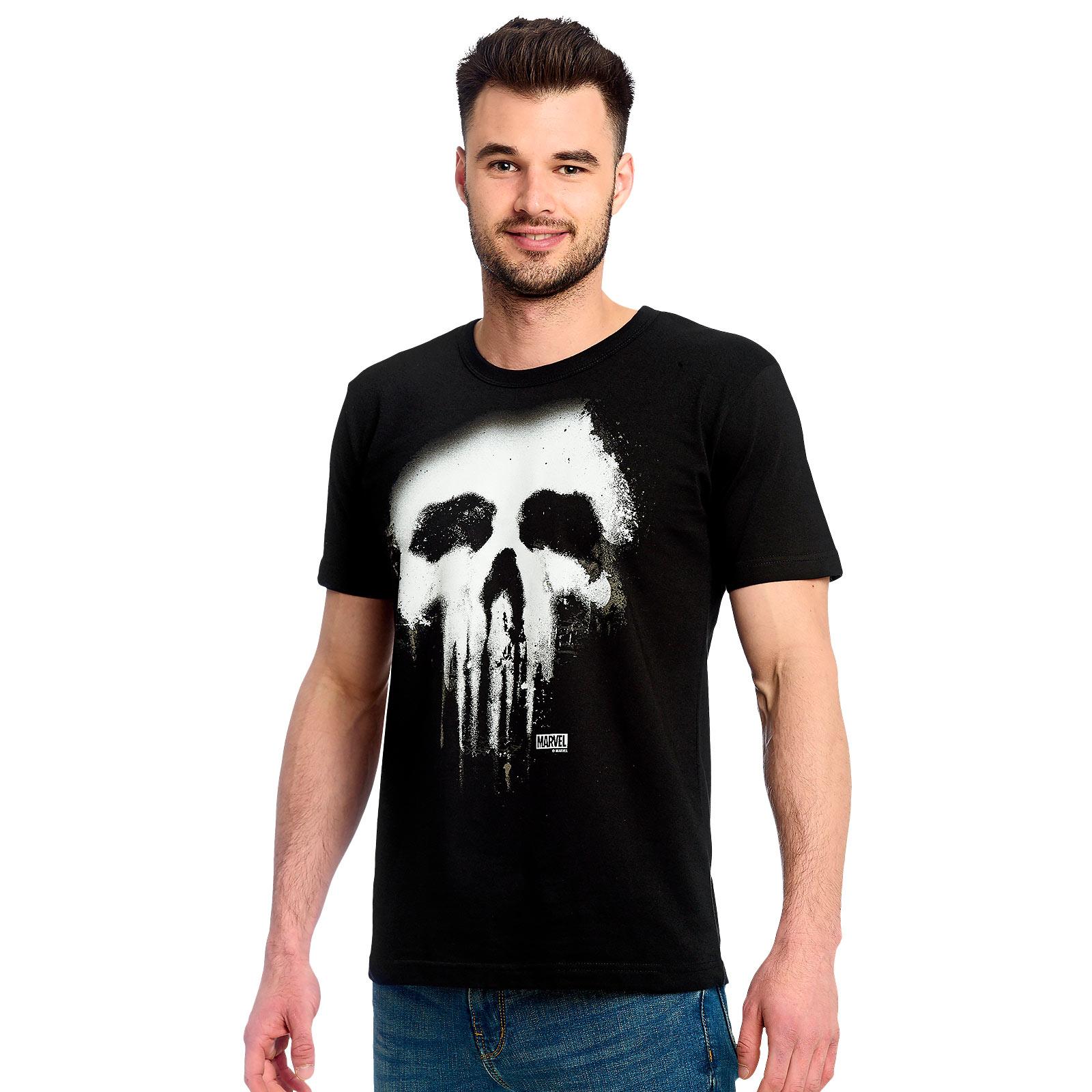 Punisher - Faded Skull Logo T-Shirt schwarz