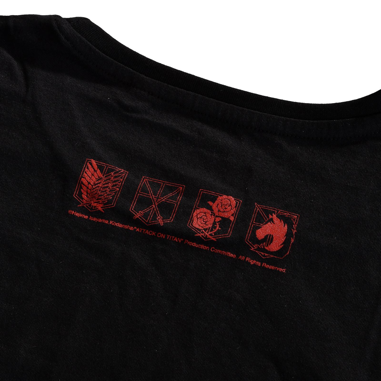 Attack on Titan - Crew Fight T-Shirt schwarz