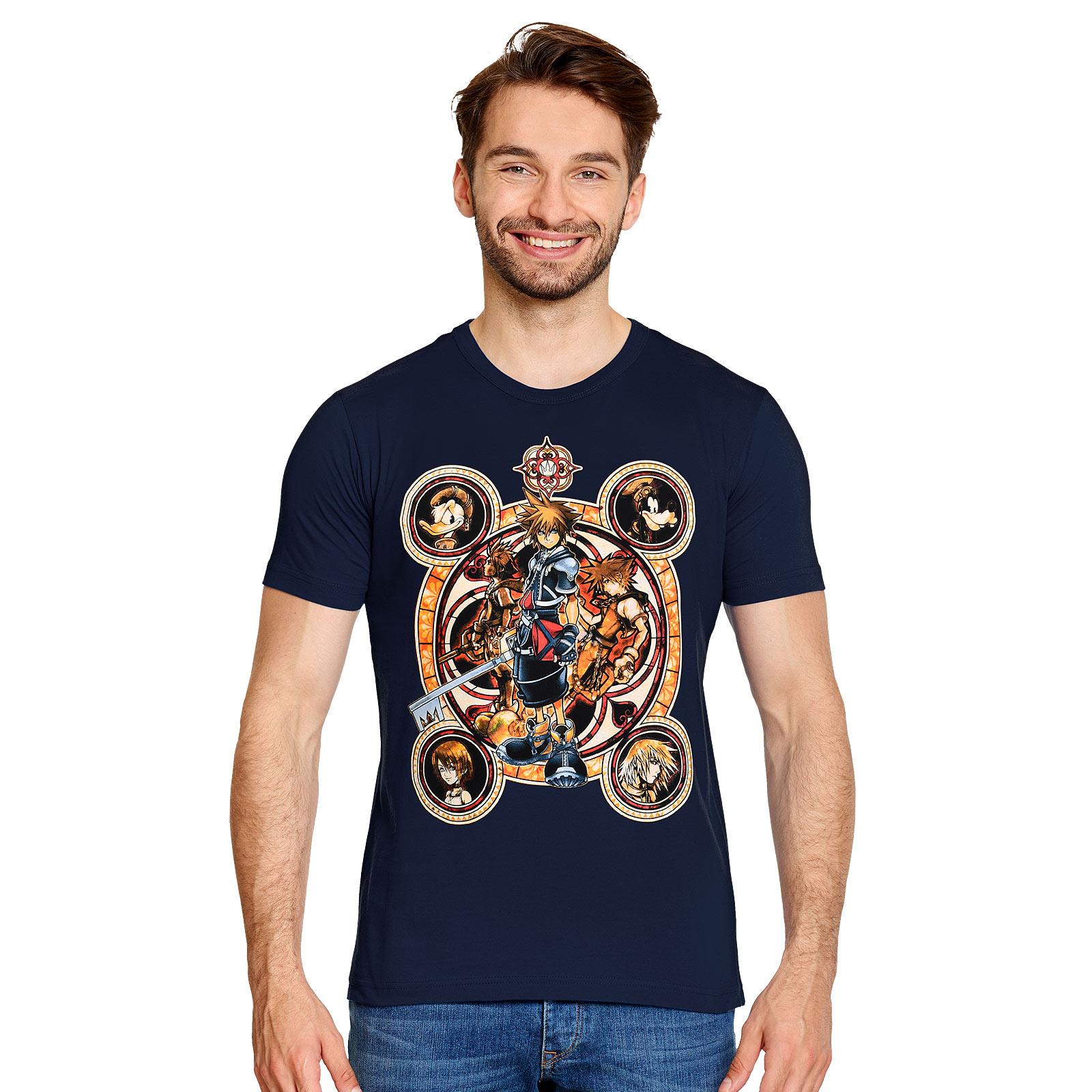 Kingdom Hearts - Characters T-Shirt blau