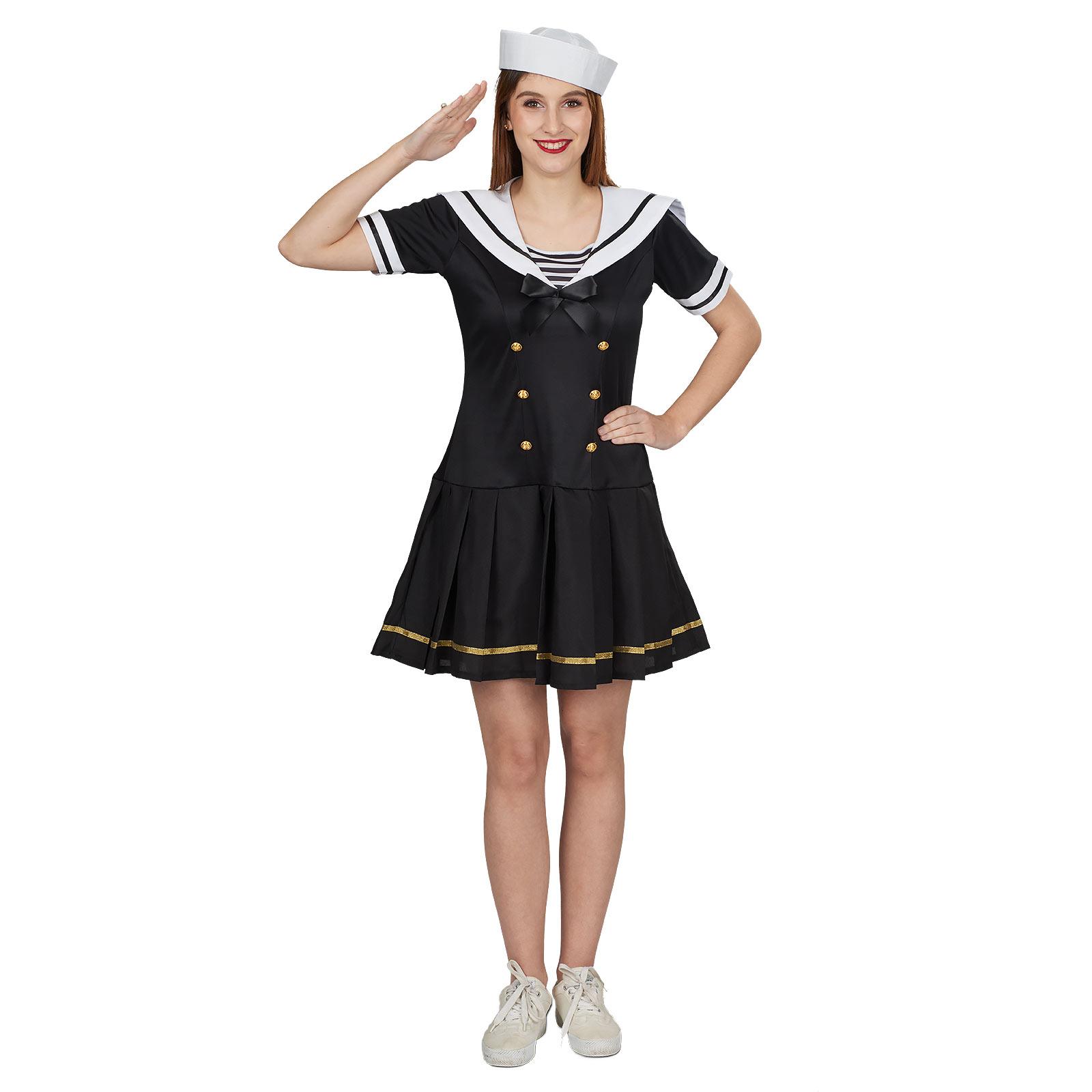 Sailor Girl Kostüm Damen schwarz