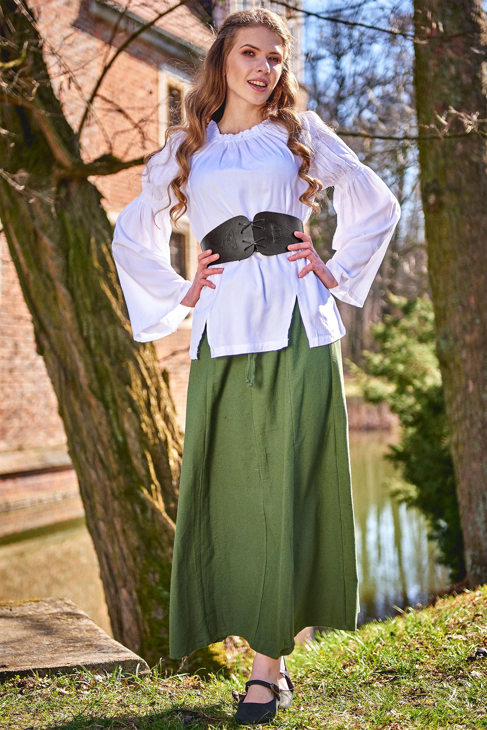 Mittelalter Miedergürtel Alana mit keltischer Prägung schwarz