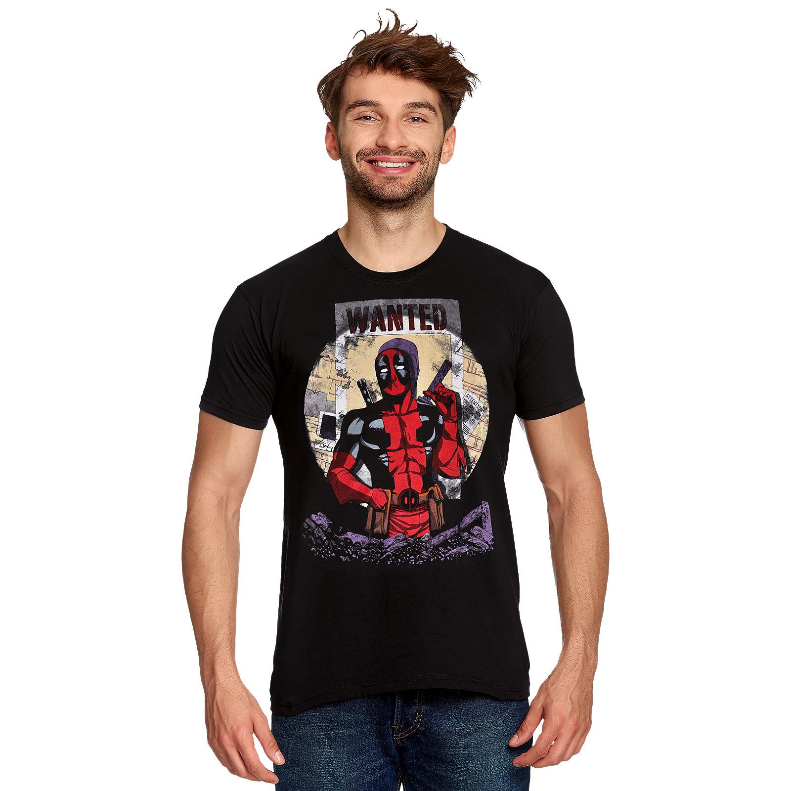 Deadpool - Wanted T-Shirt schwarz