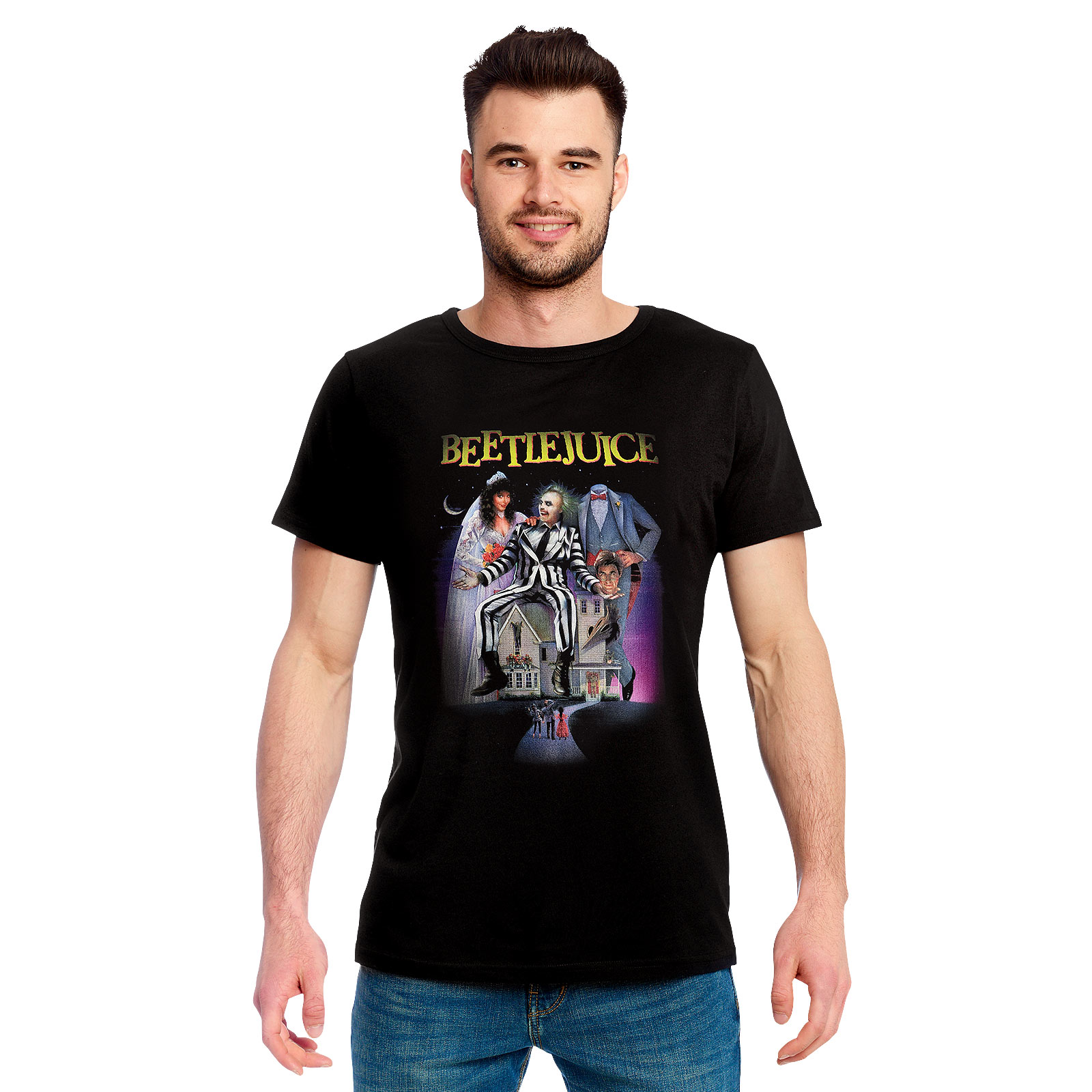 Beetlejuice - Movie Poster T-Shirt schwarz