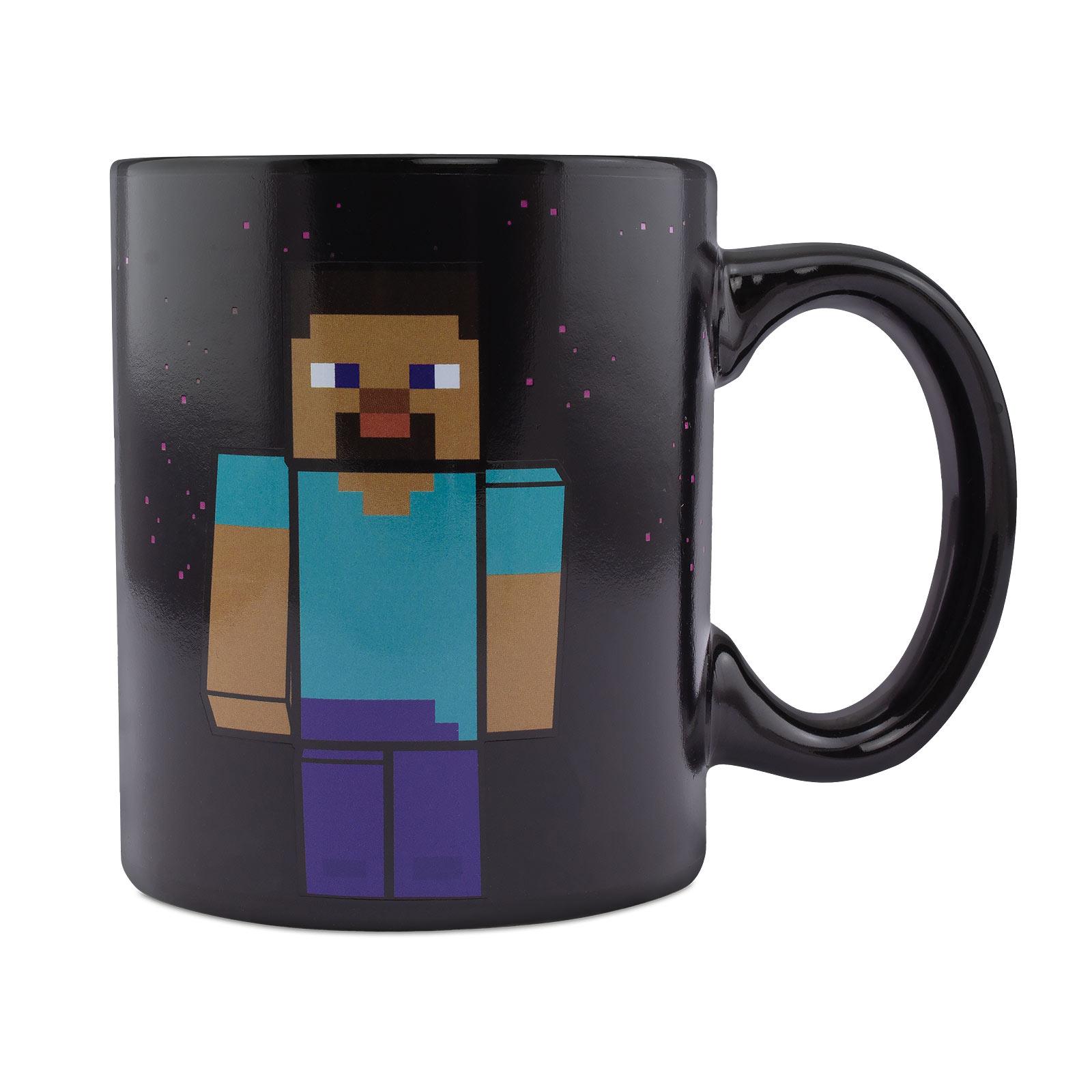 Minecraft - Steve und Alex Thermoeffekt Tasse