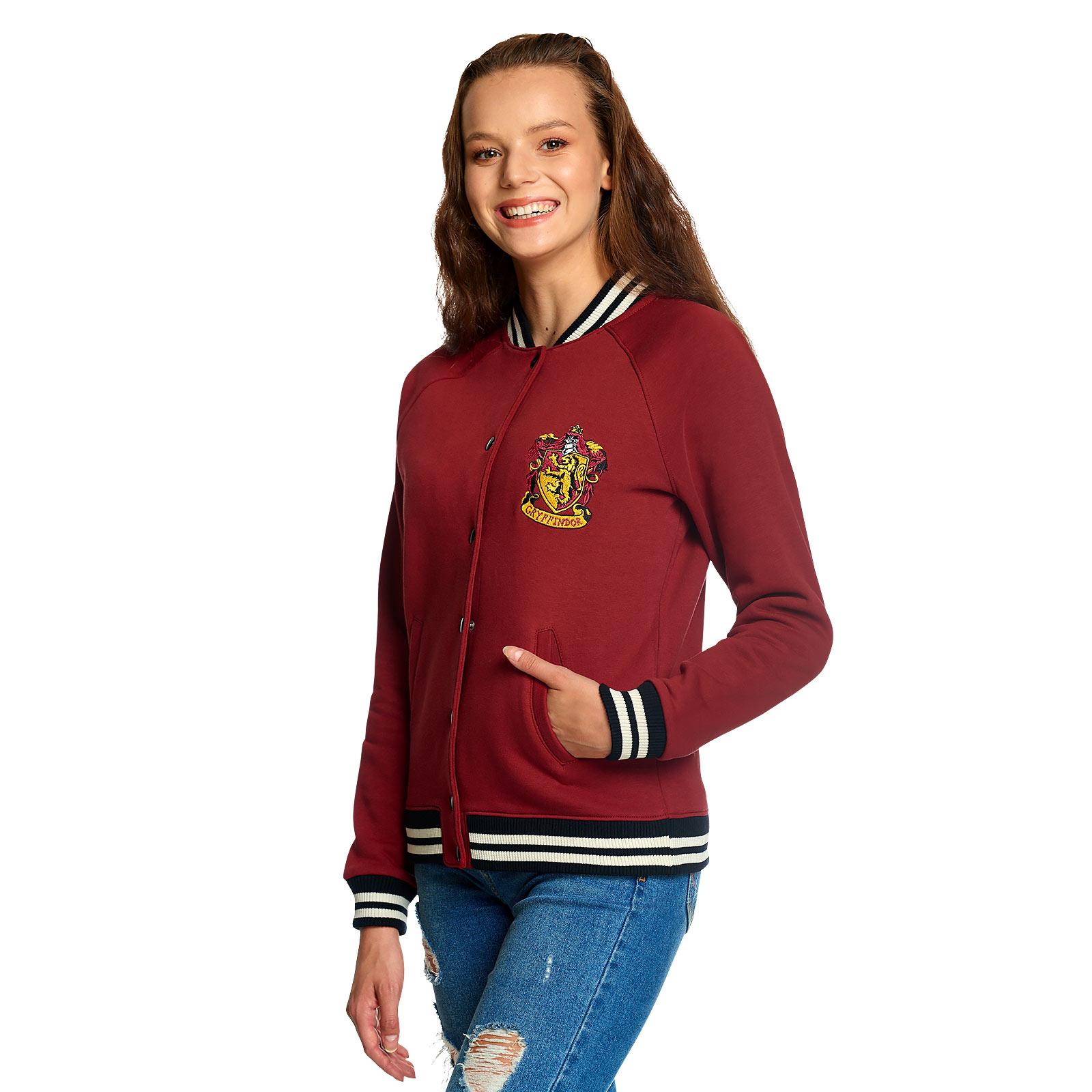 Harry Potter - Gryffindor Wappen College Jacke Damen rot