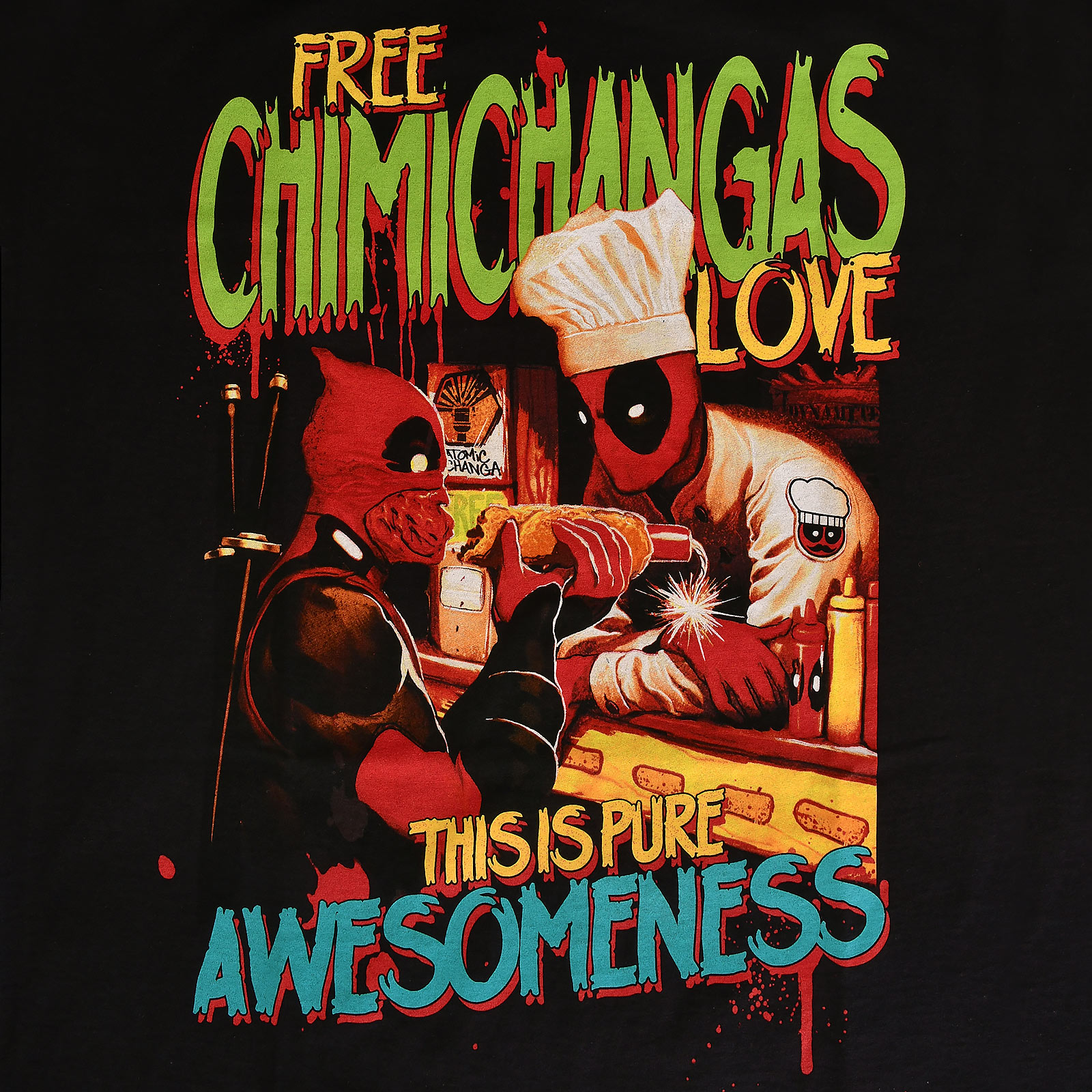 Deadpool - Chimichangas Love T-Shirt schwarz